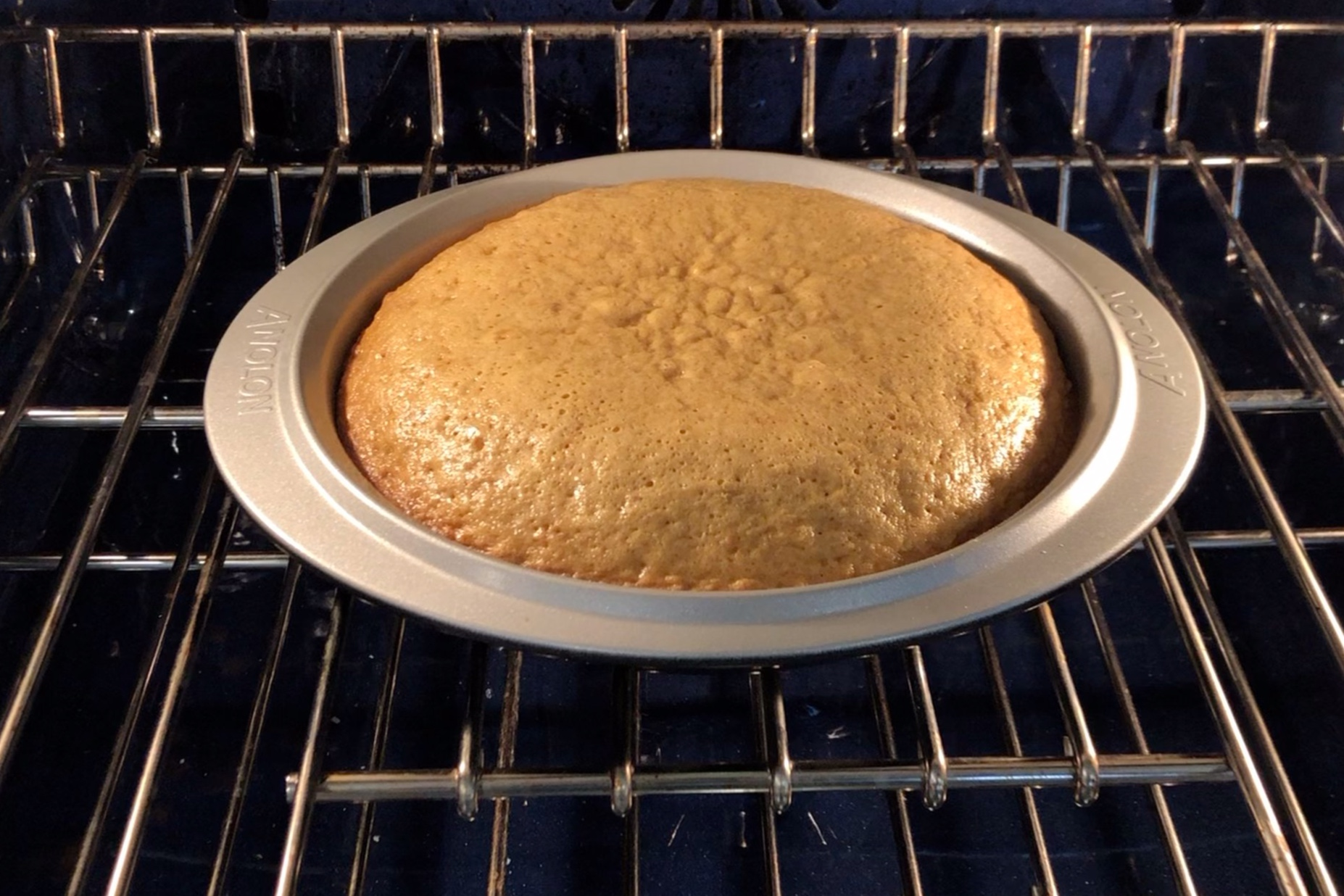 7. Bake the cakes separately for 25-30 minutes or until a toothpick inserted in the middle comes out clean. -