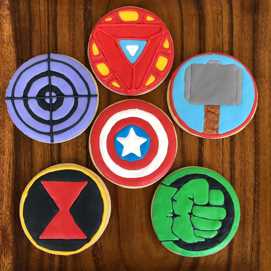 Avengers Symbol Cookies