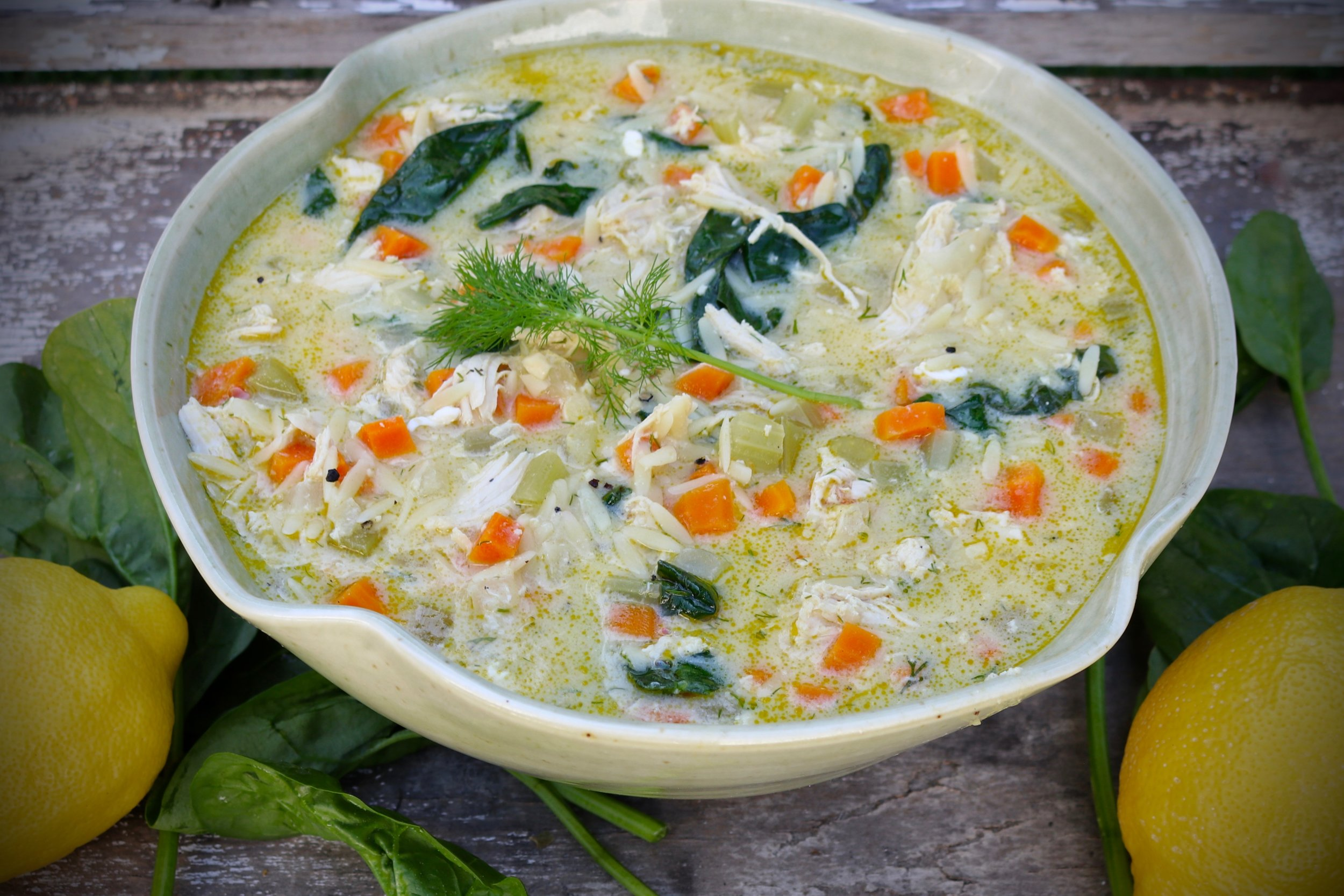 One-Pot Lemon Chicken Soup With Orzo