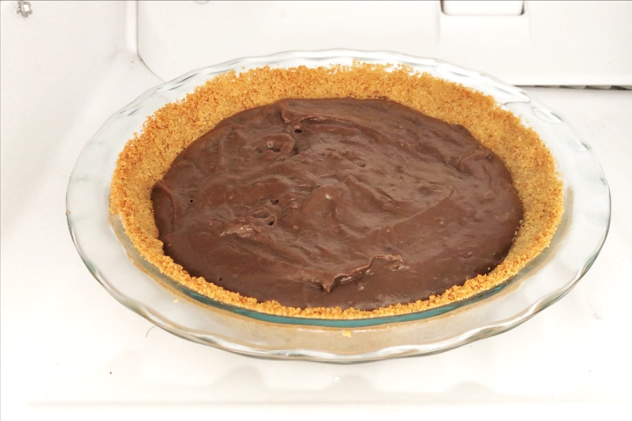 9. Place pie in the refrigerator for at least 3-4 hours before adding whipped cream topping. -
