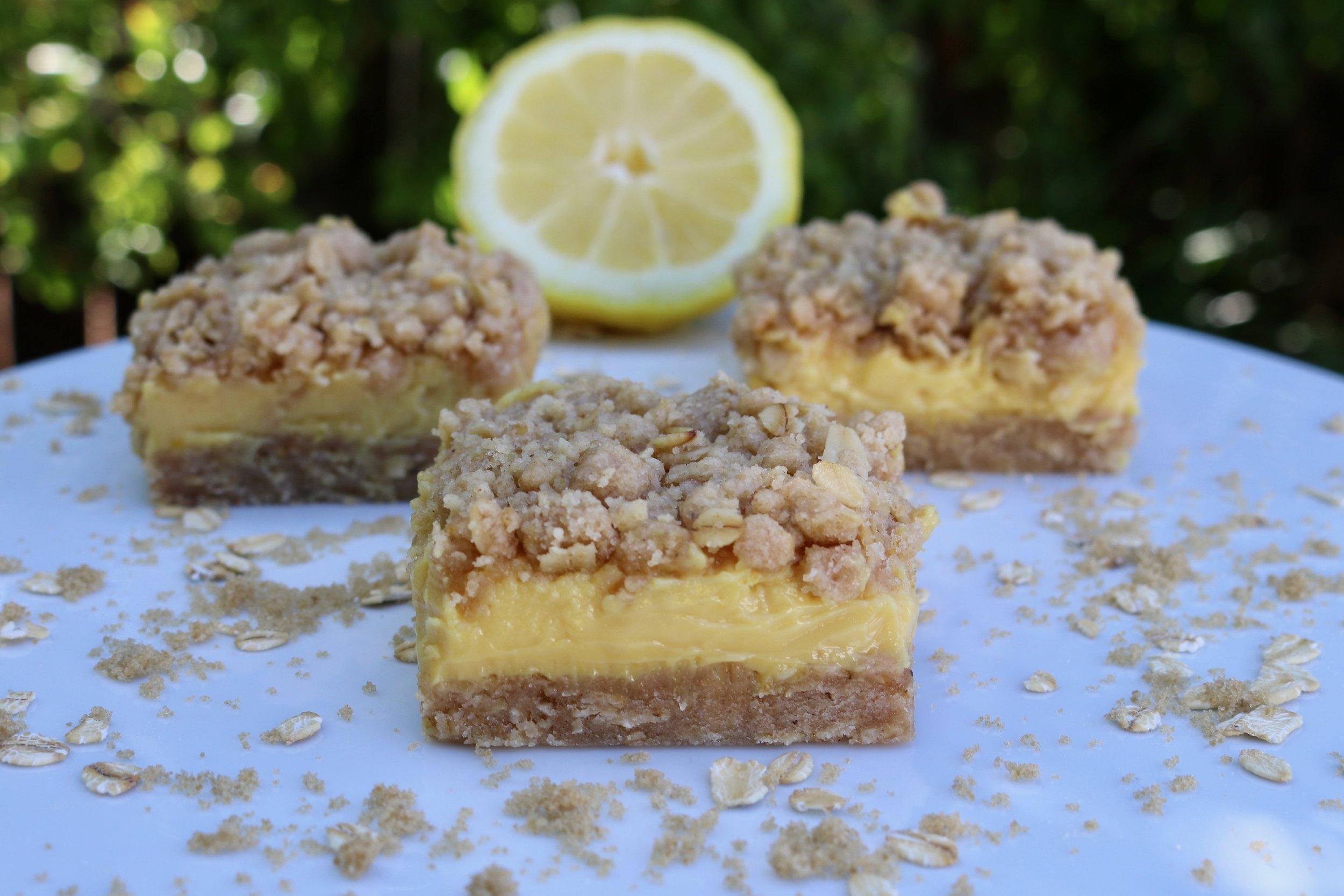 Lemon Oat Bars