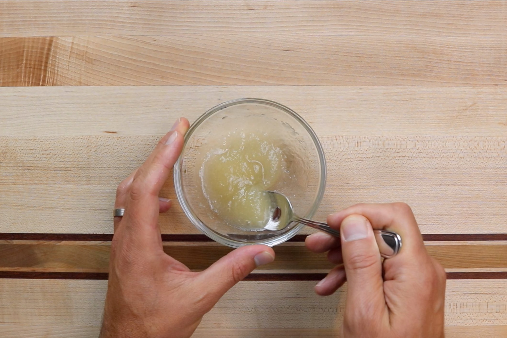 1. In a small bowl add the water. Sprinkle gelatin on top of water and stir gently until combined. Set aside. -