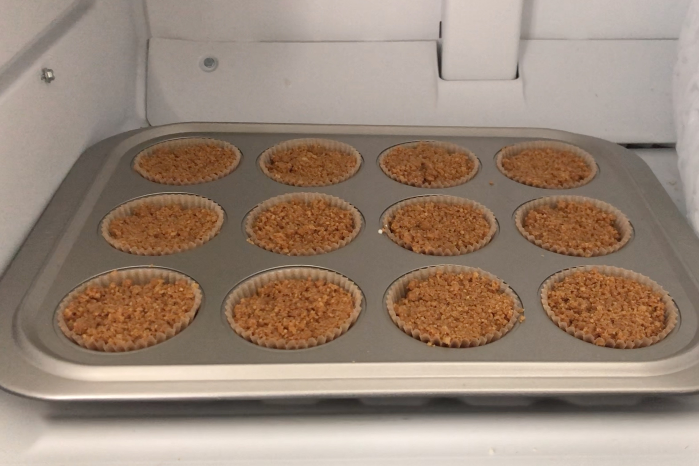 12. Place muffin tin in the freezer for 3-4 hours. -