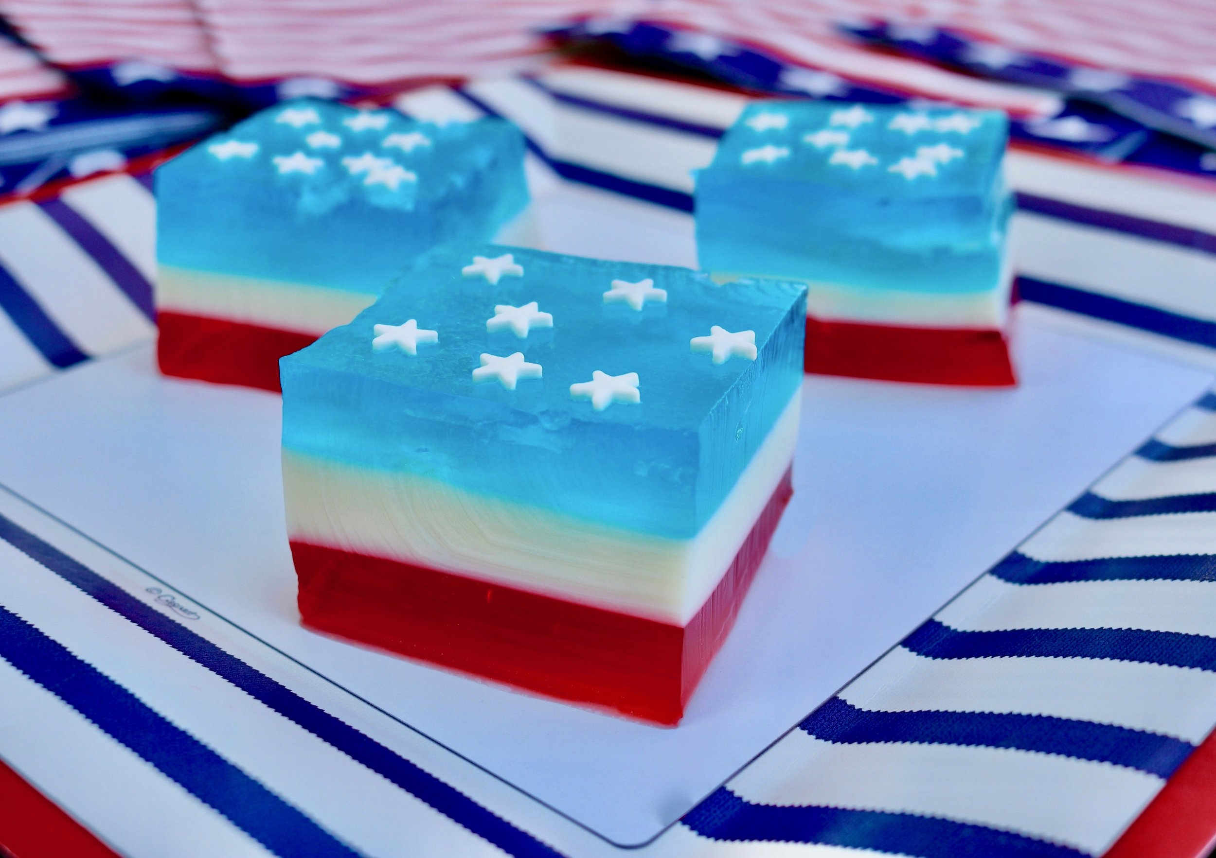Red, White and Blue Jell-O Salad