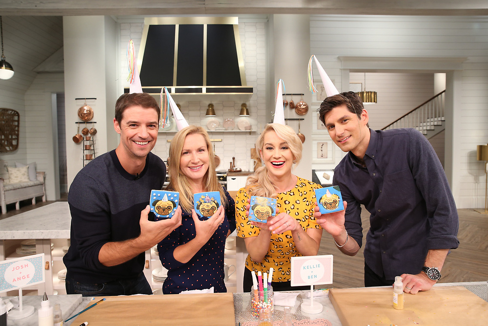 "Learn How To Make Pugicorn Cookies! - Josh and Angela stop by ""Pickler and Ben"" to chat about their YouTube cooking show called,"