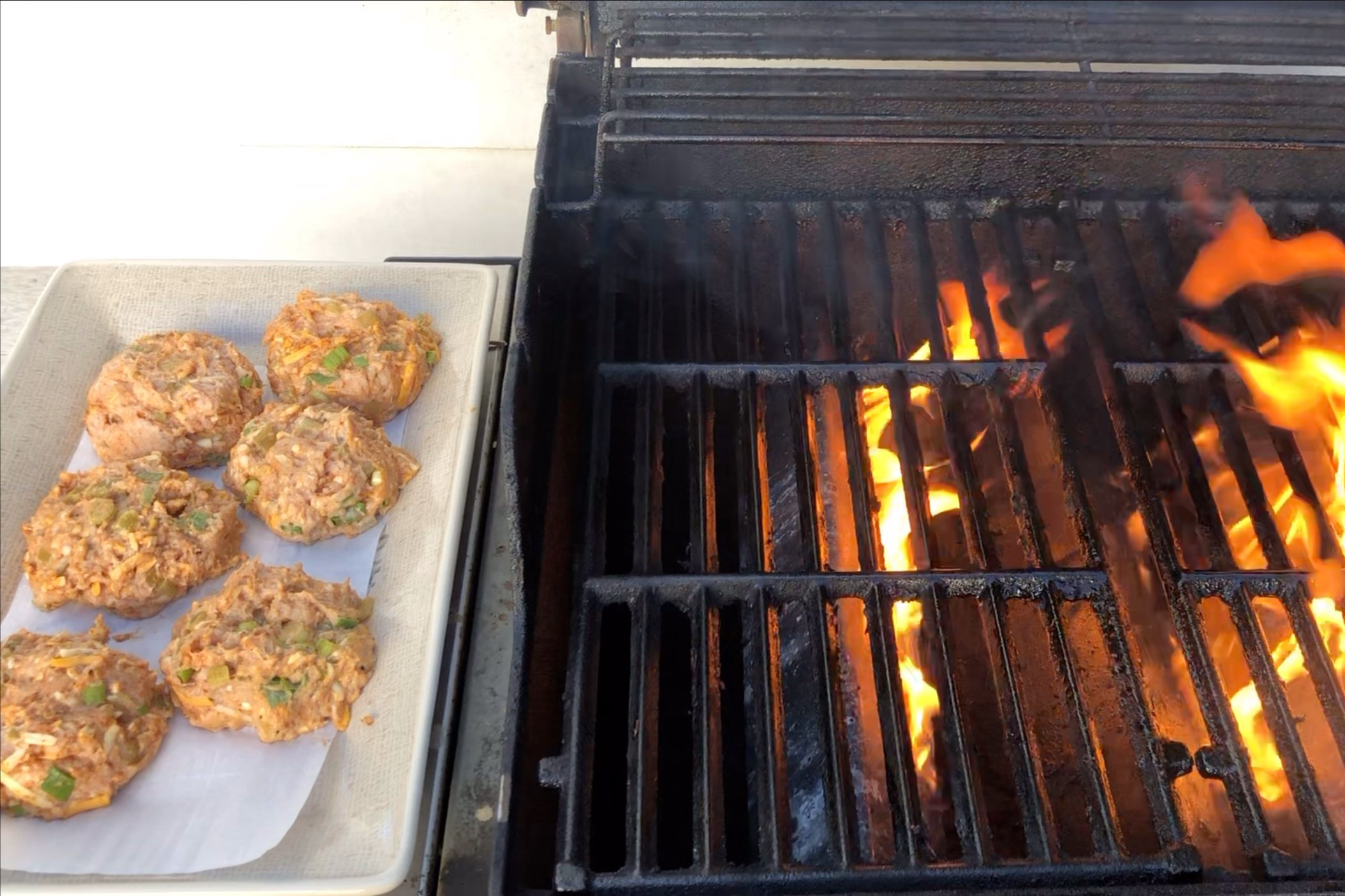 5. Pre-heat your outdoor grill to 400 degrees. -