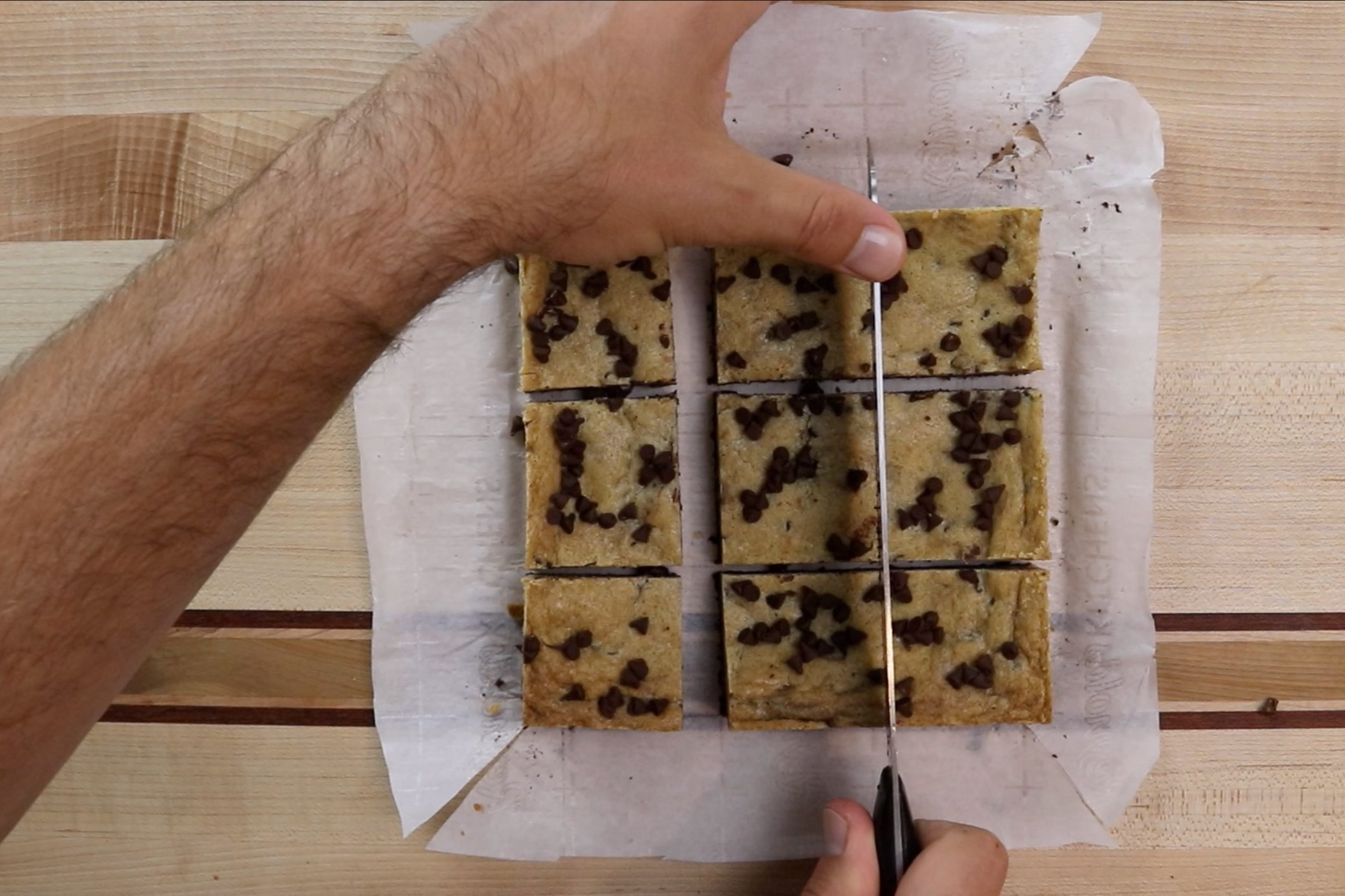 17. Cut bars into pieces using a serrated knife. Store in an airtight container for up to a week. -
