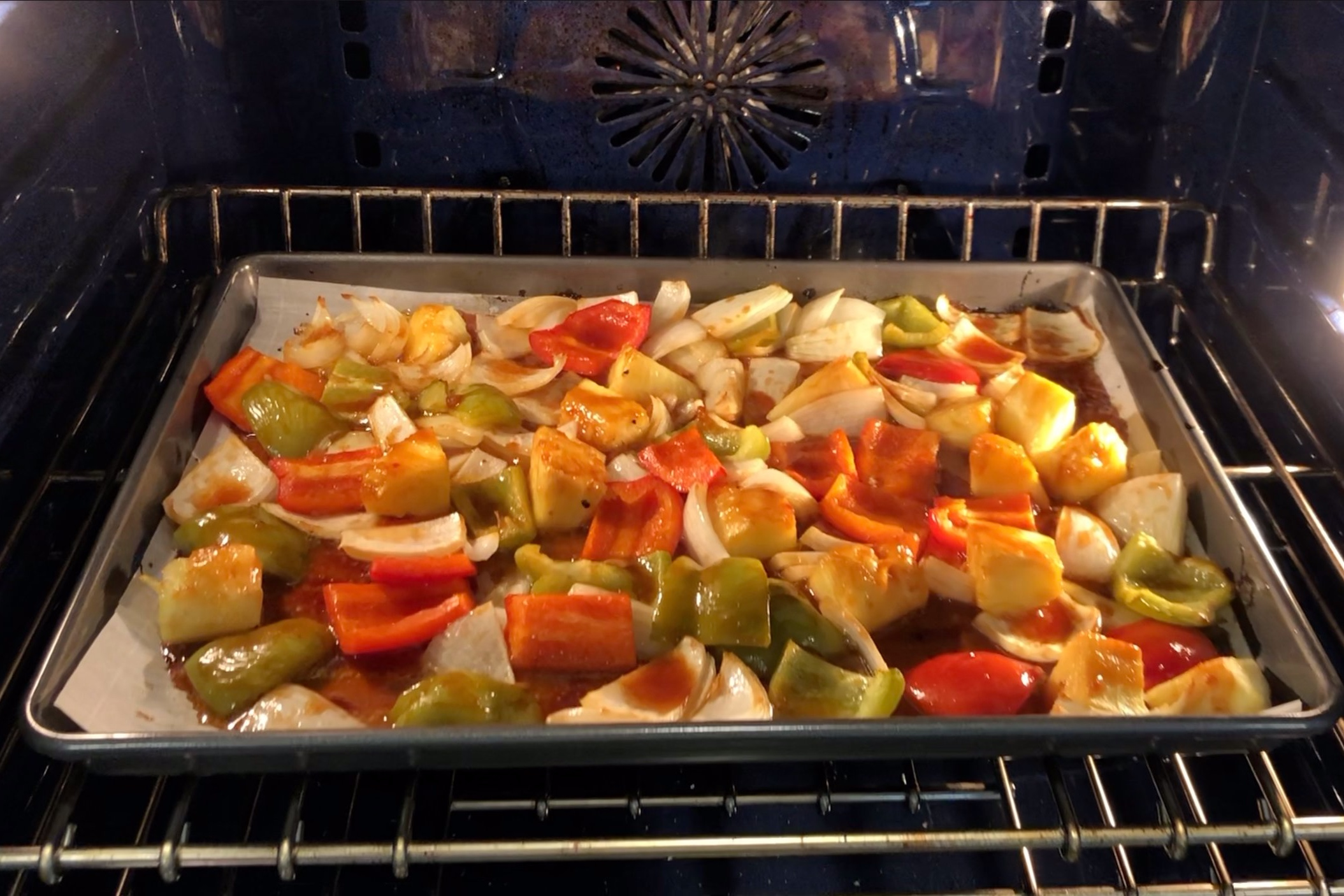 12. Bake veggies another 10-15 minutes until the edges start to char. -