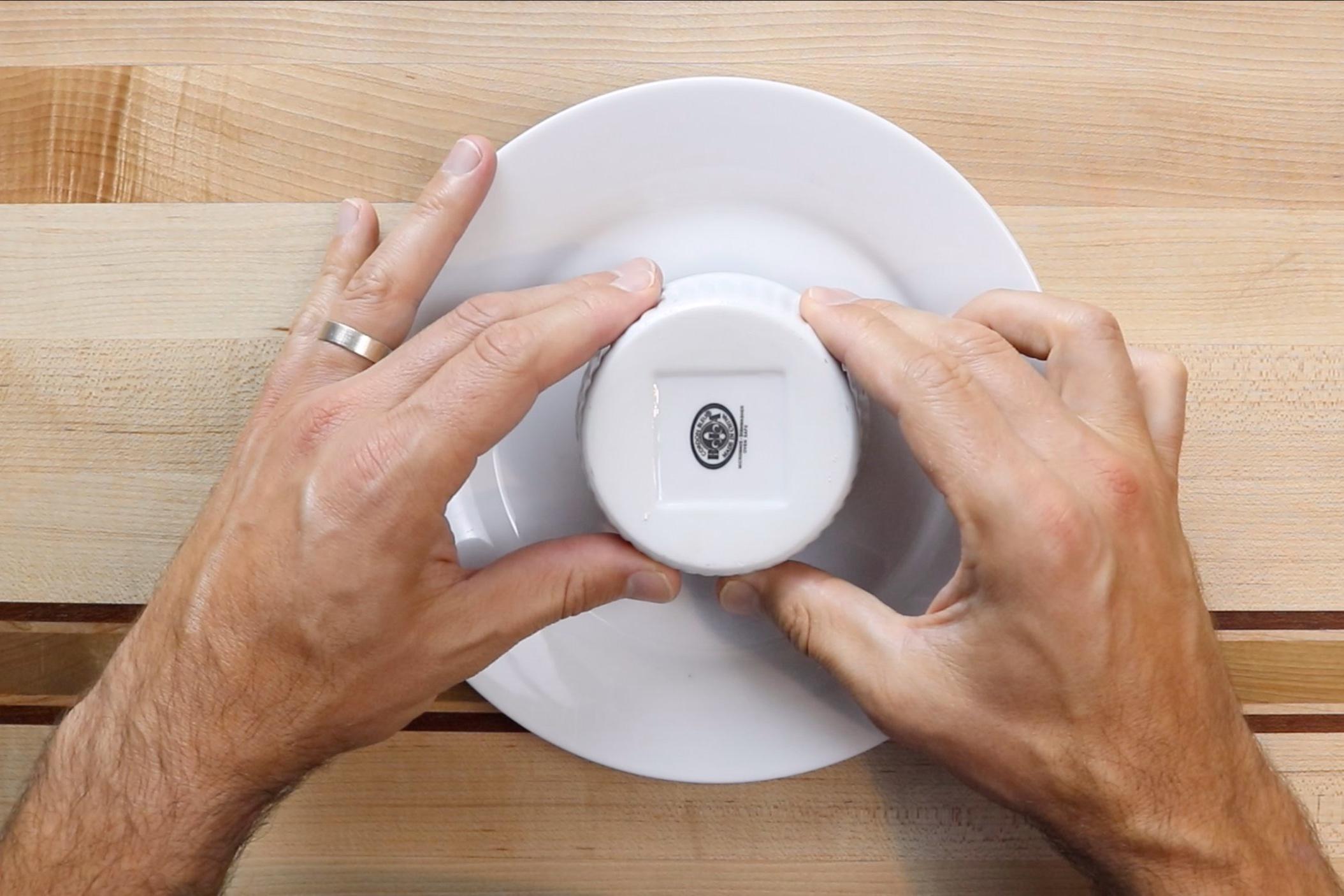 12. Run a knife around the edge of each ramekin and turn over onto a plate. -