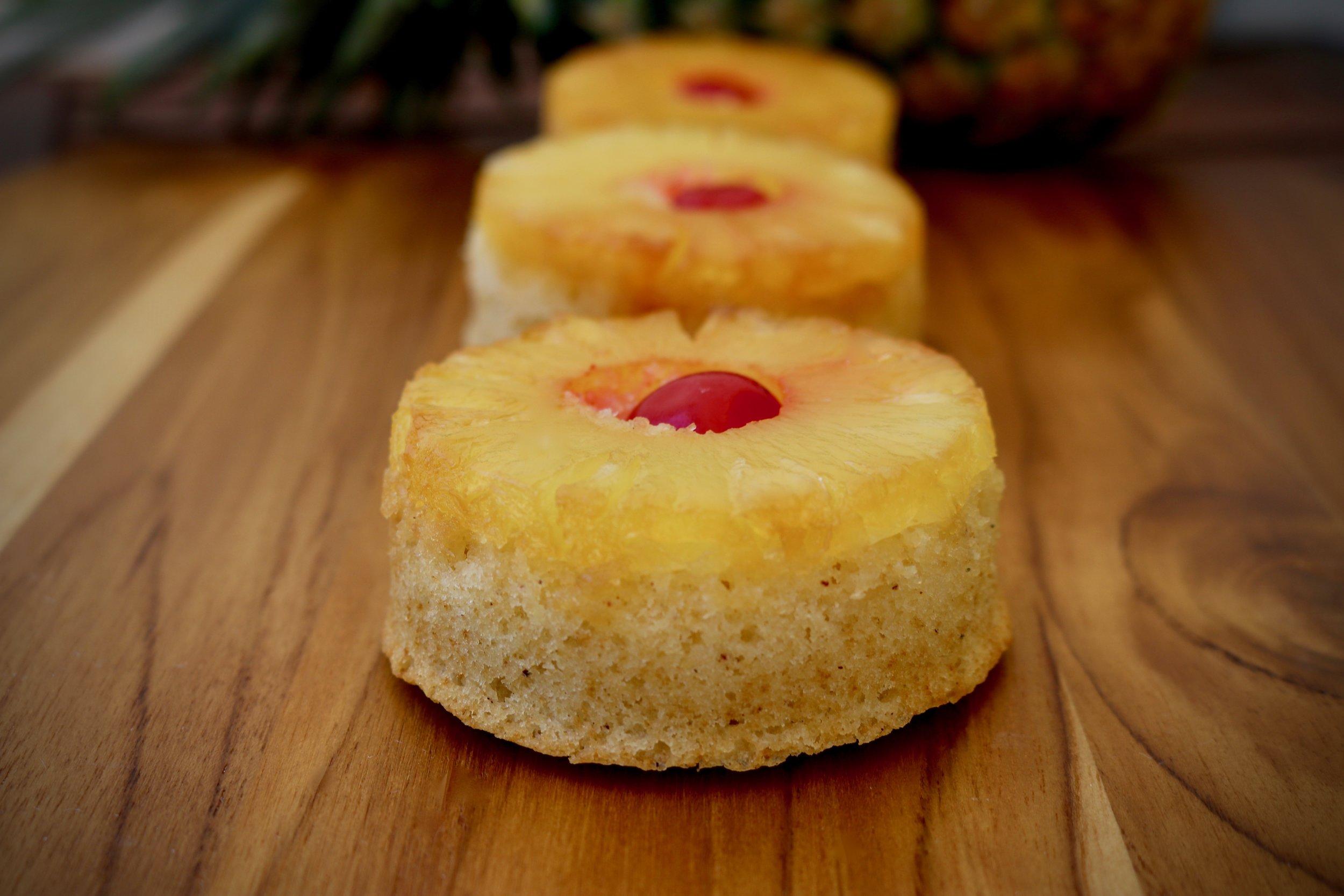 Upside Down Pineapple Mini-Cakes