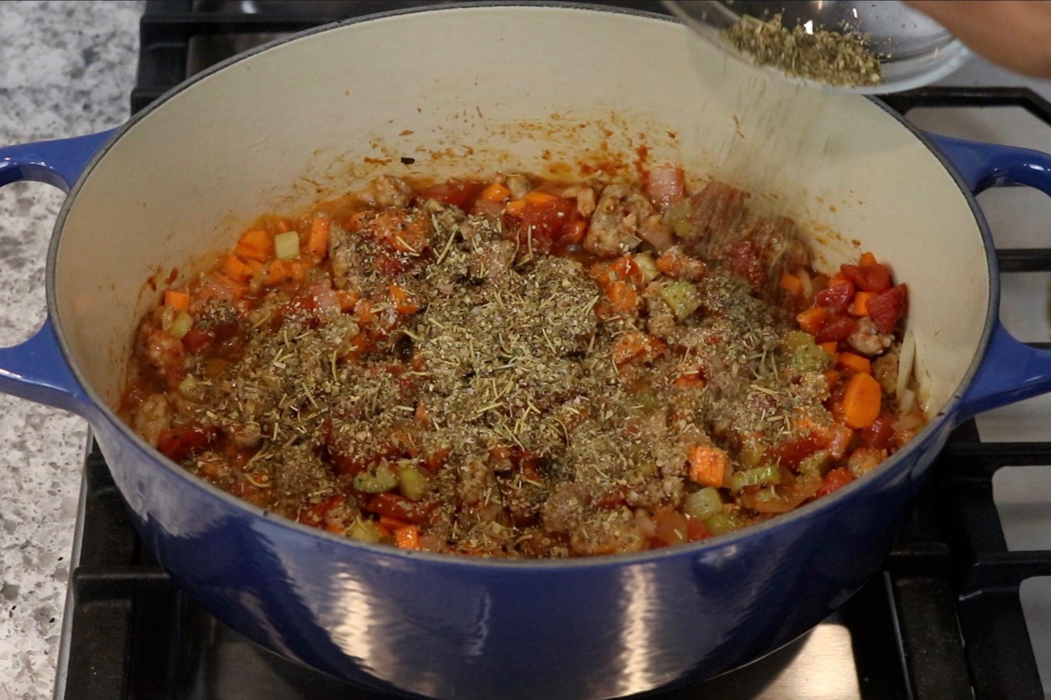 5. Stir in the Italian seasoning. -