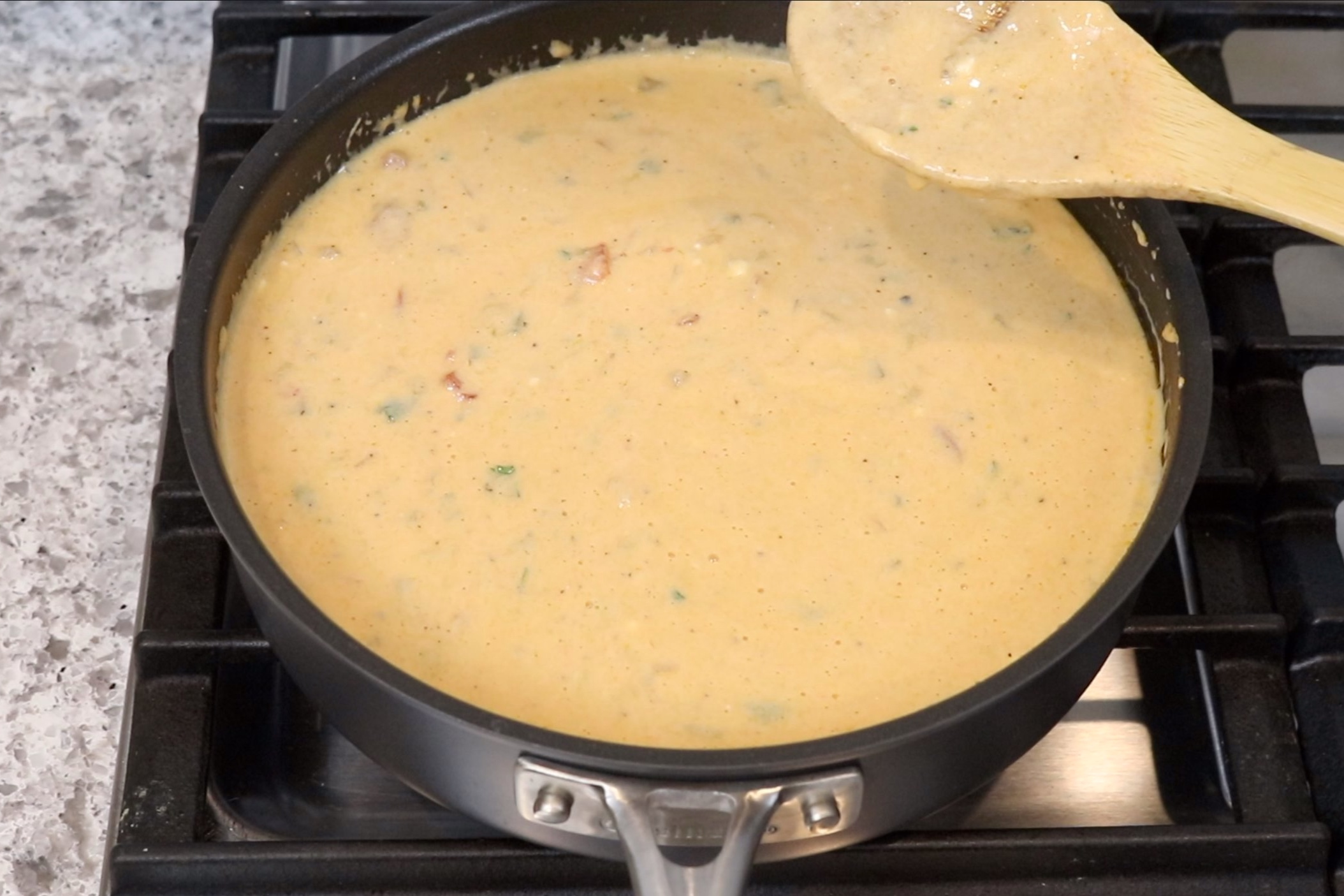 8. Serve immediately with chips. -
