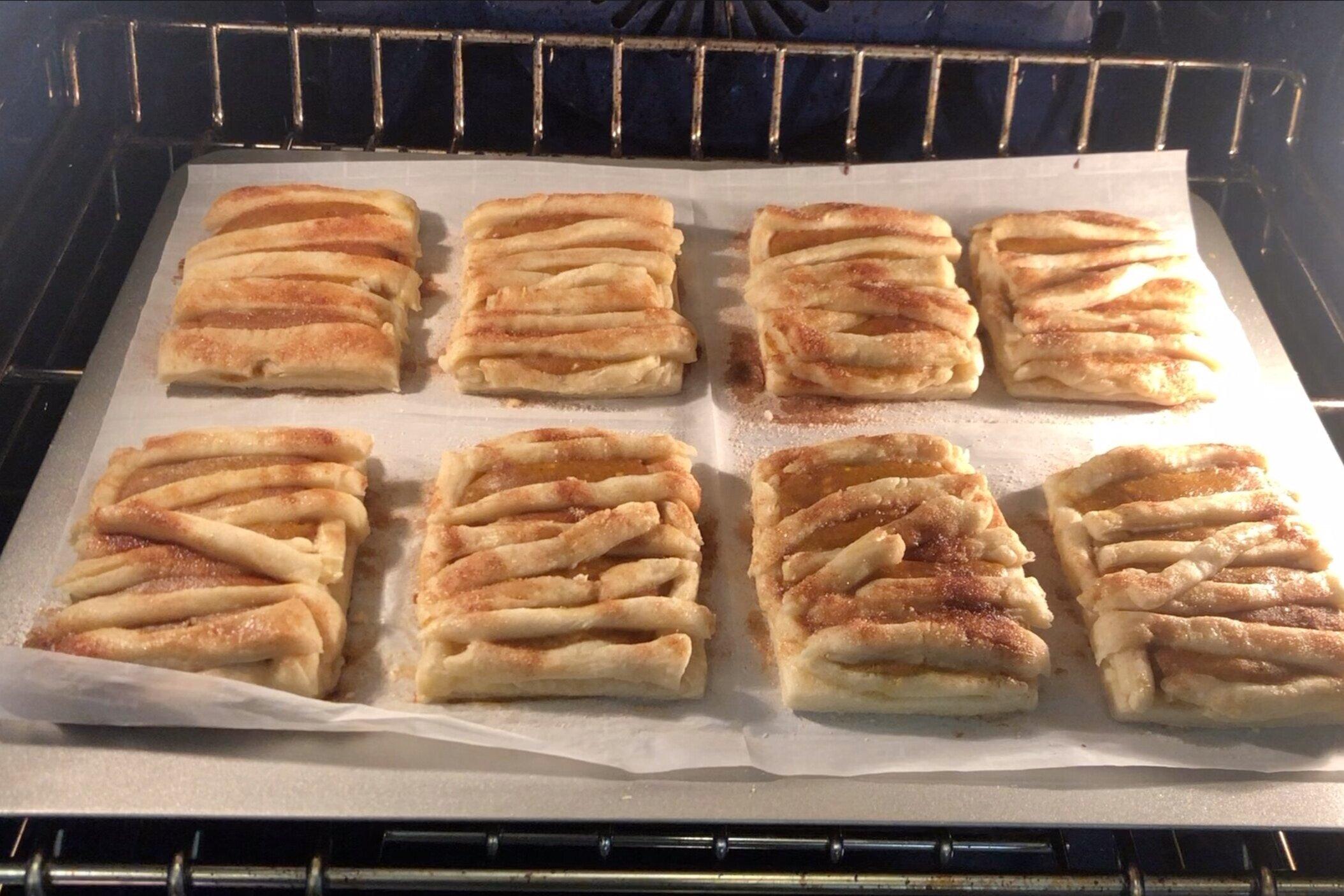 9. Bake for 18-20 minutes until golden brown. -
