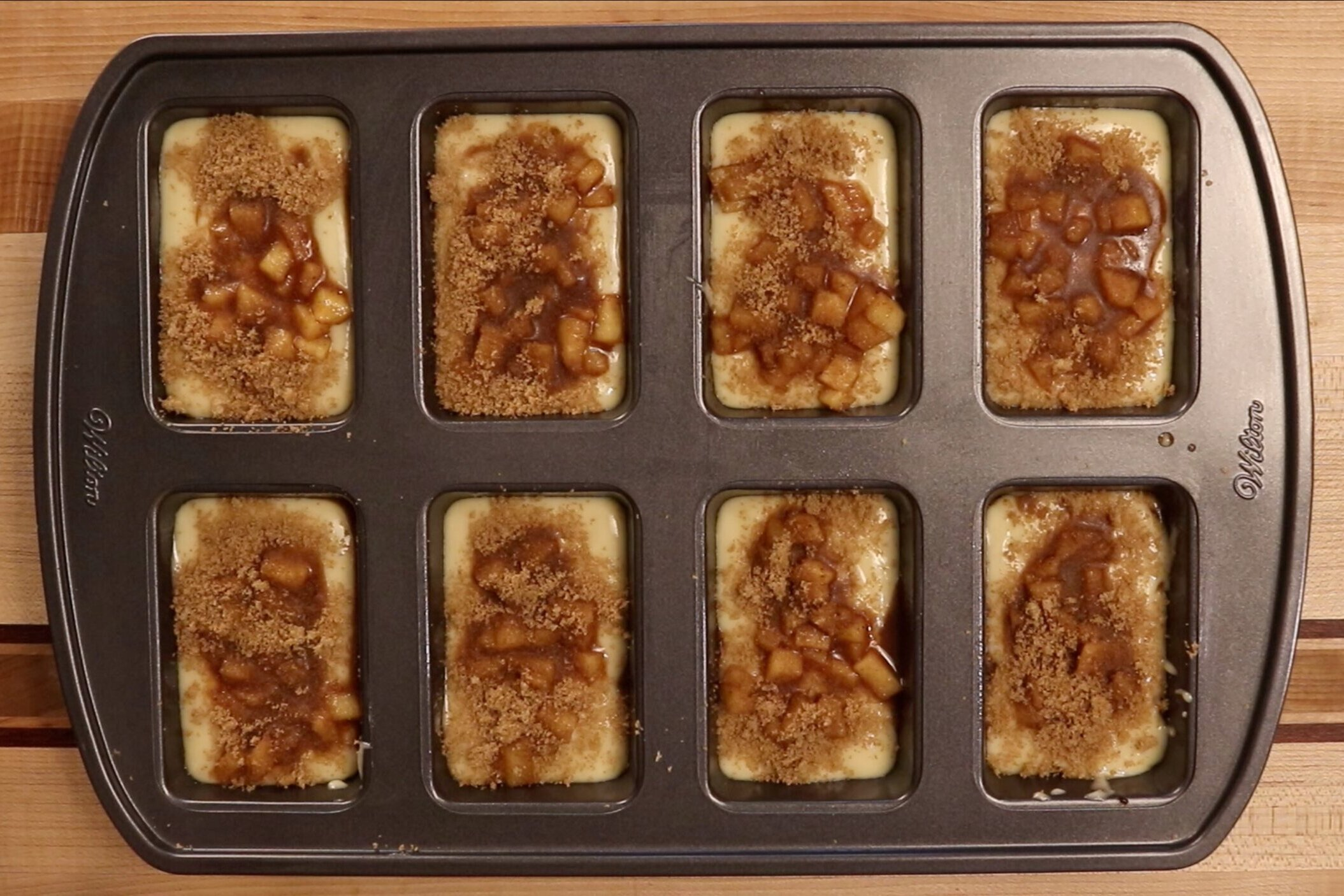 13. Repeat with remaining batter, apples and cinnamon-brown sugar mixture. -