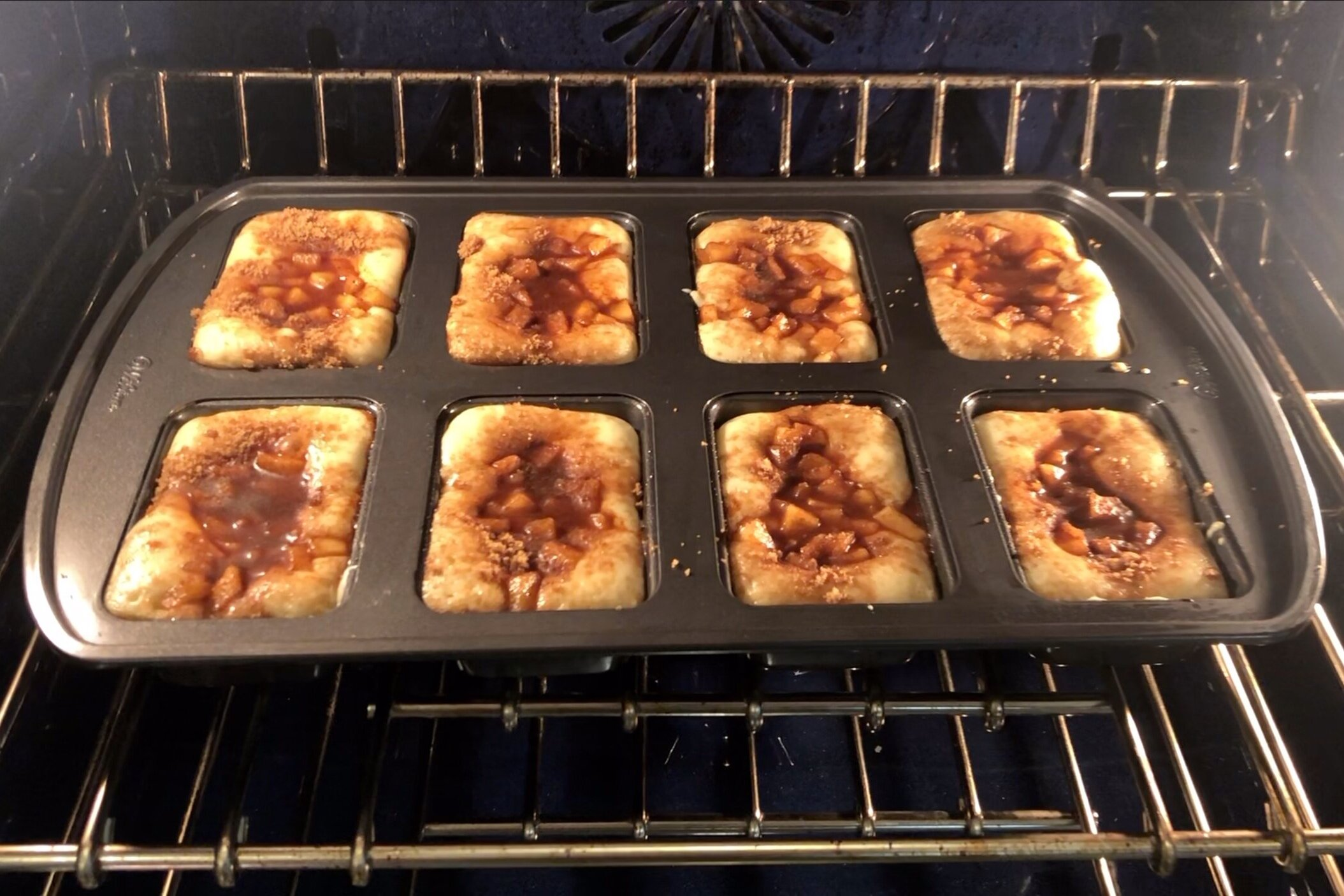 14. Bake for 22-24 minutes or until a toothpick inserted into the center comes out mostly clean. -