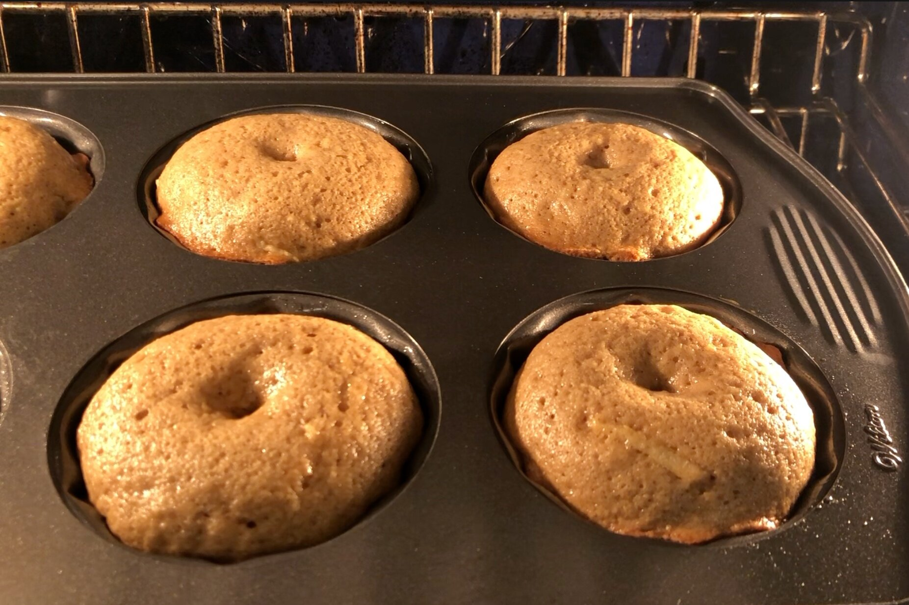 8. Bake for 20-22 minutes until a toothpick inserted in the middle comes out clean. -