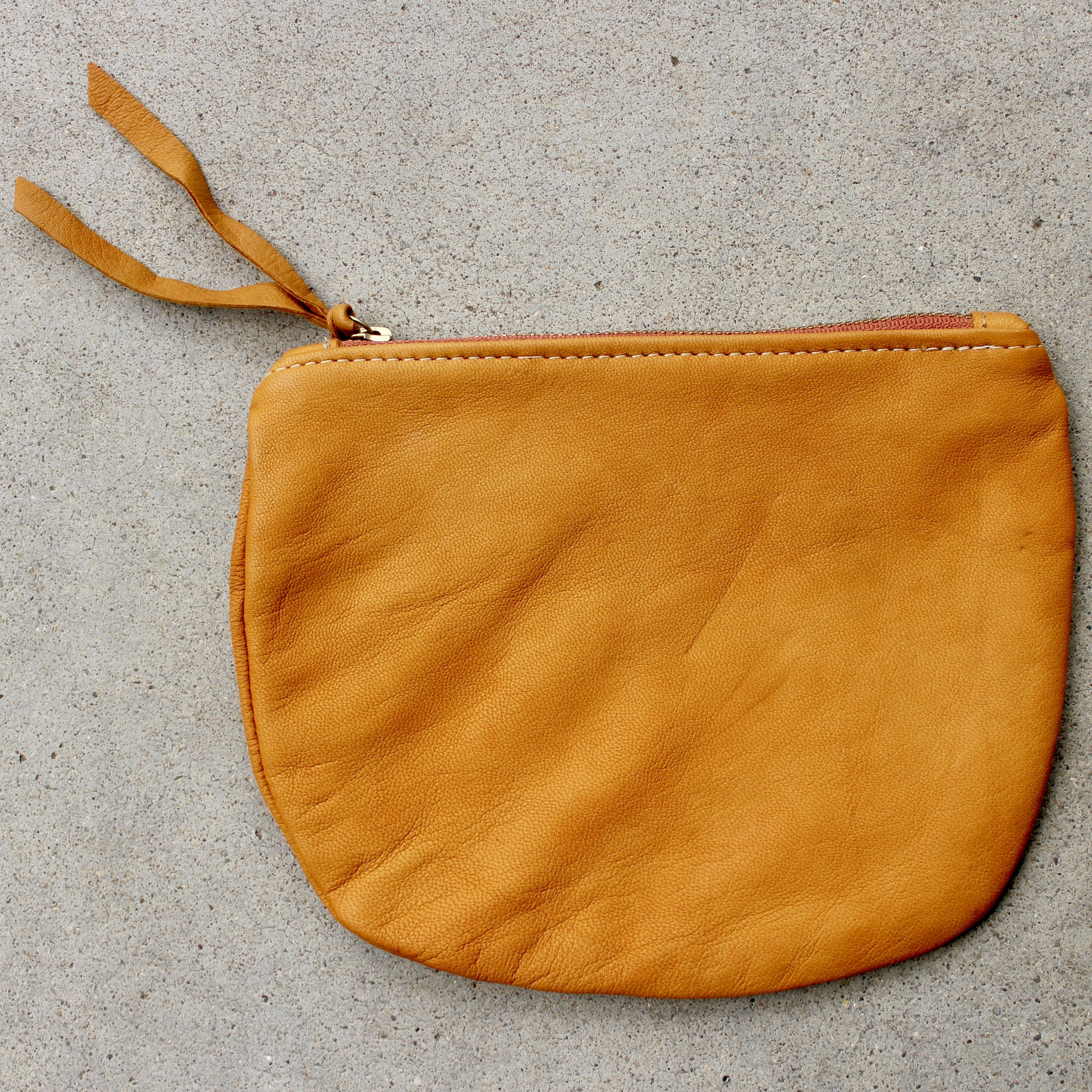 The Tan Leather Pouch