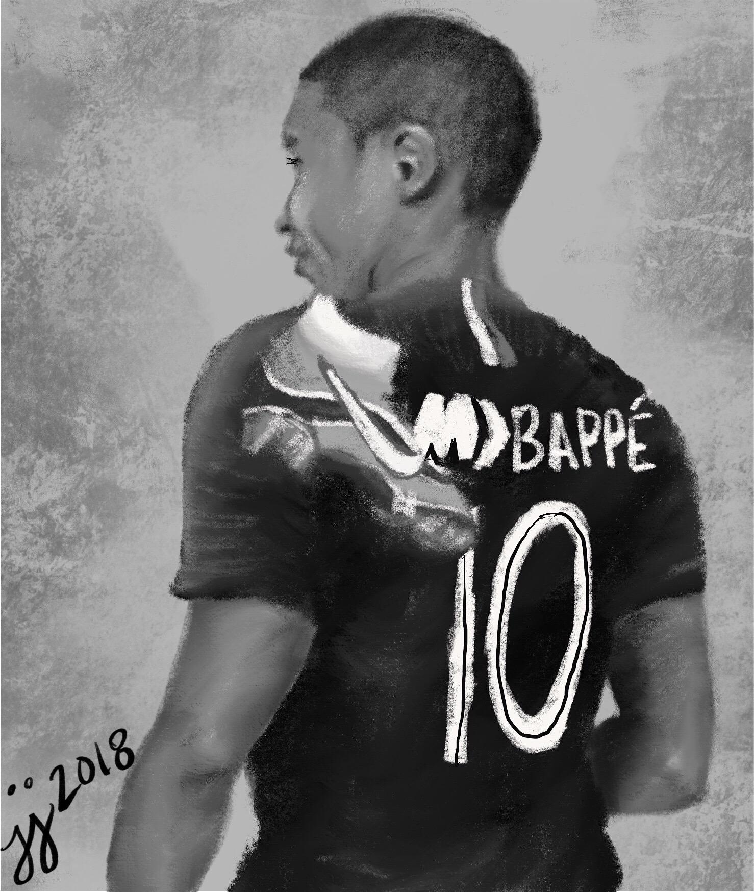 Copy of French Footballer Kylian Mbappé