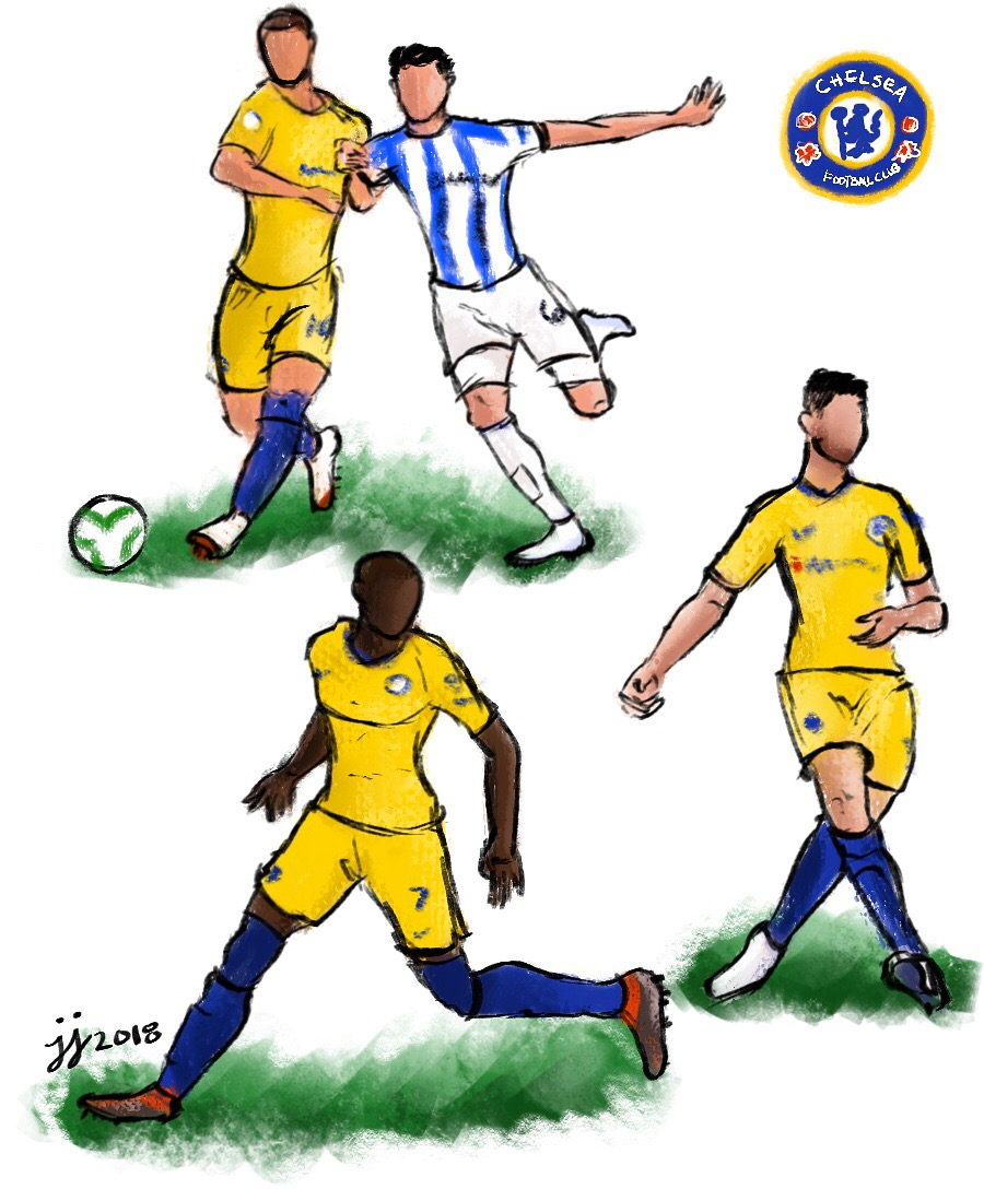 Copy of Action Poses Study feat. Chelsea F.C.