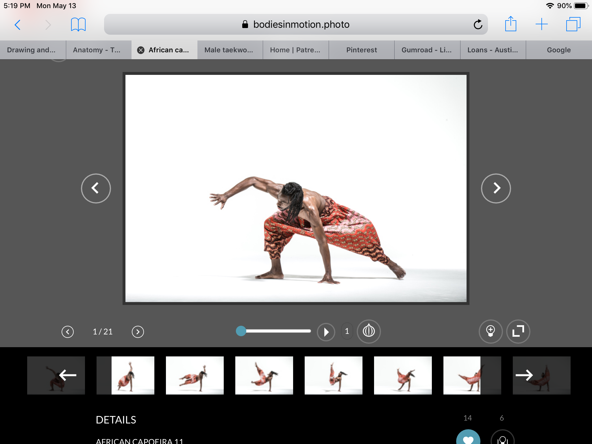 Screenshot of the African Capoeira animation I reference.