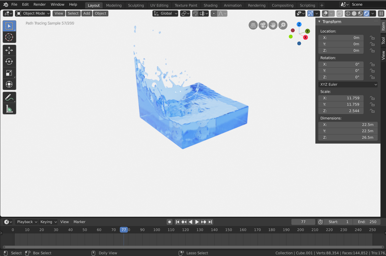 Progress shots from the tutorial.