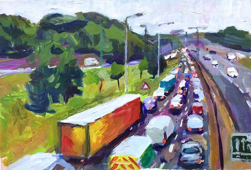 Tailback on North Circular Road (A406)