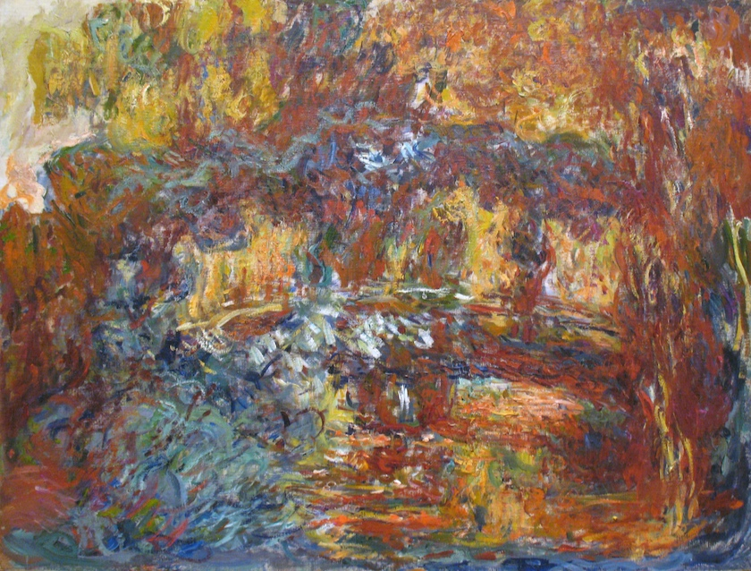 Claude Monet   The Japanese Footbridge,  1920-22 oil on canvas (Image source:  Museum of Modern Art, New York )