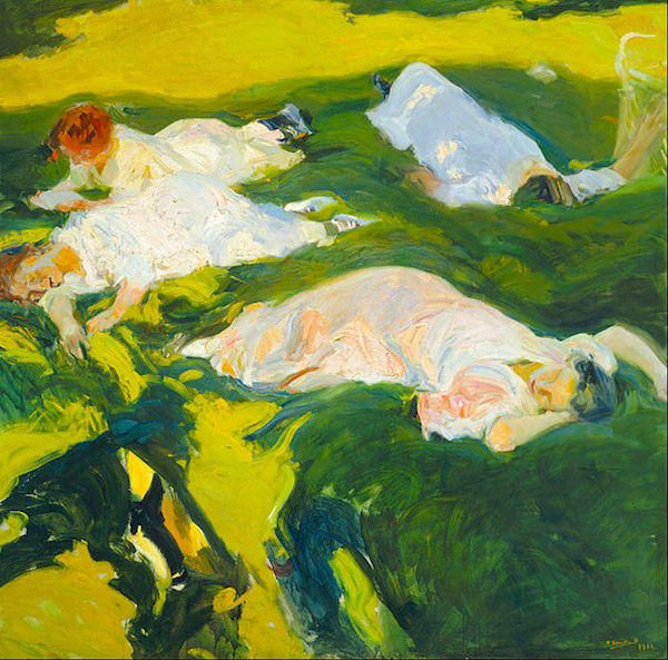 Joaquín Sorolla   The Siesta  1906 oil on canvas (image source:  Wikimedia )