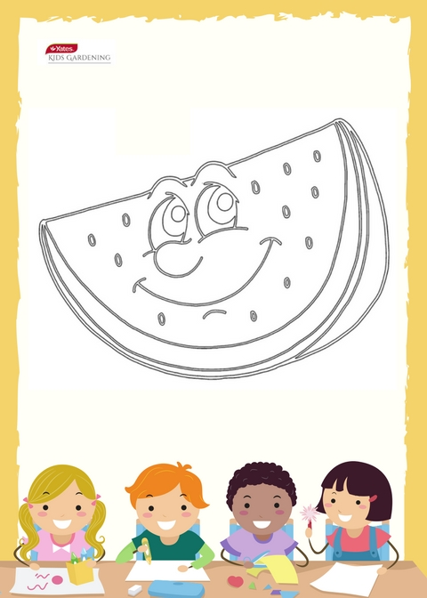 Watermelon Colouring In Sheet