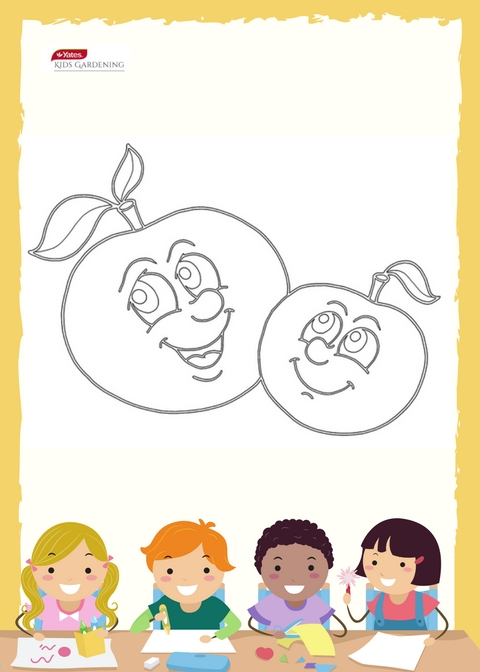 Happy Tomato - Colouring In Sheet