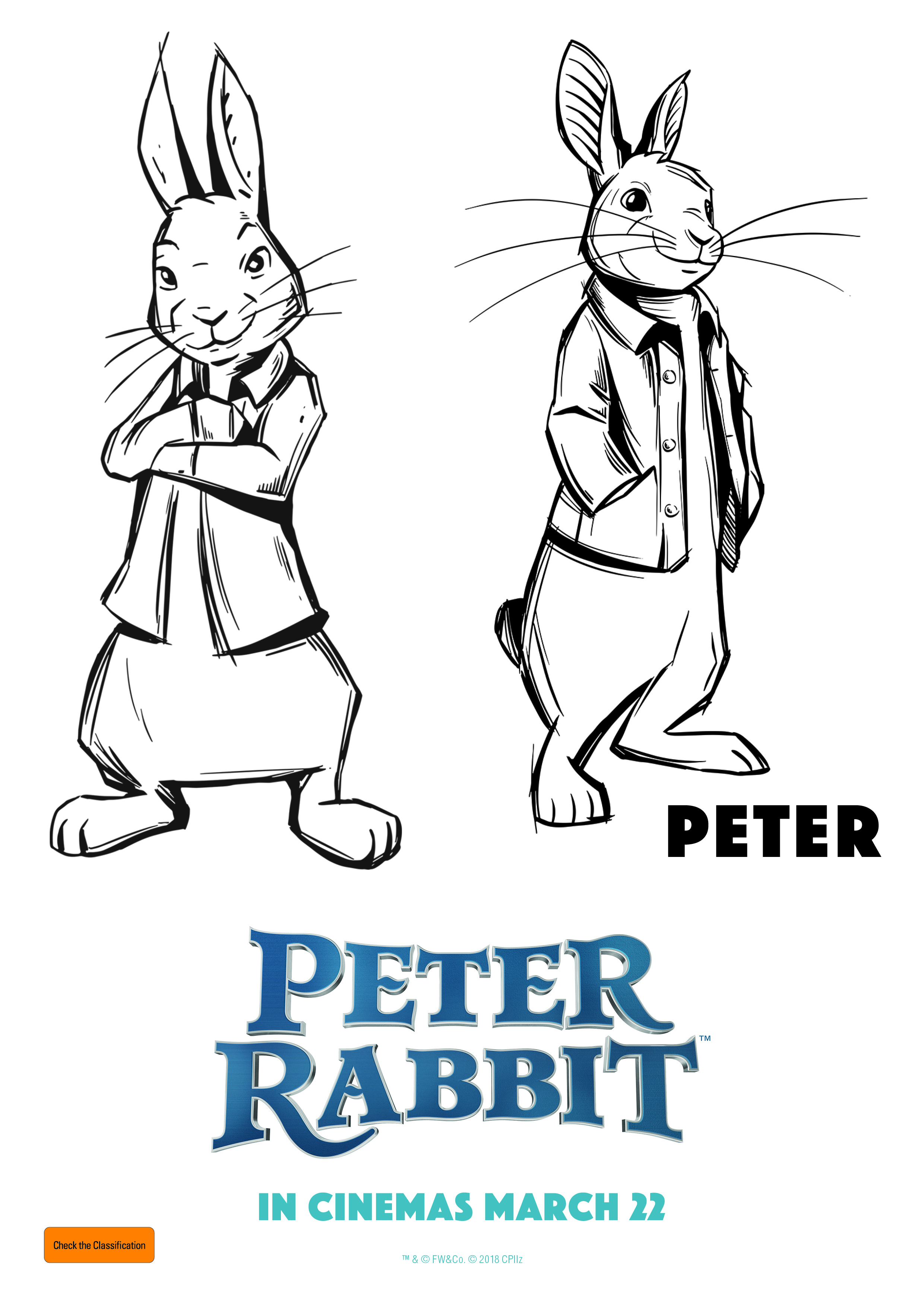 Copy of Peter Rabbit - Free Colouring In for Kids