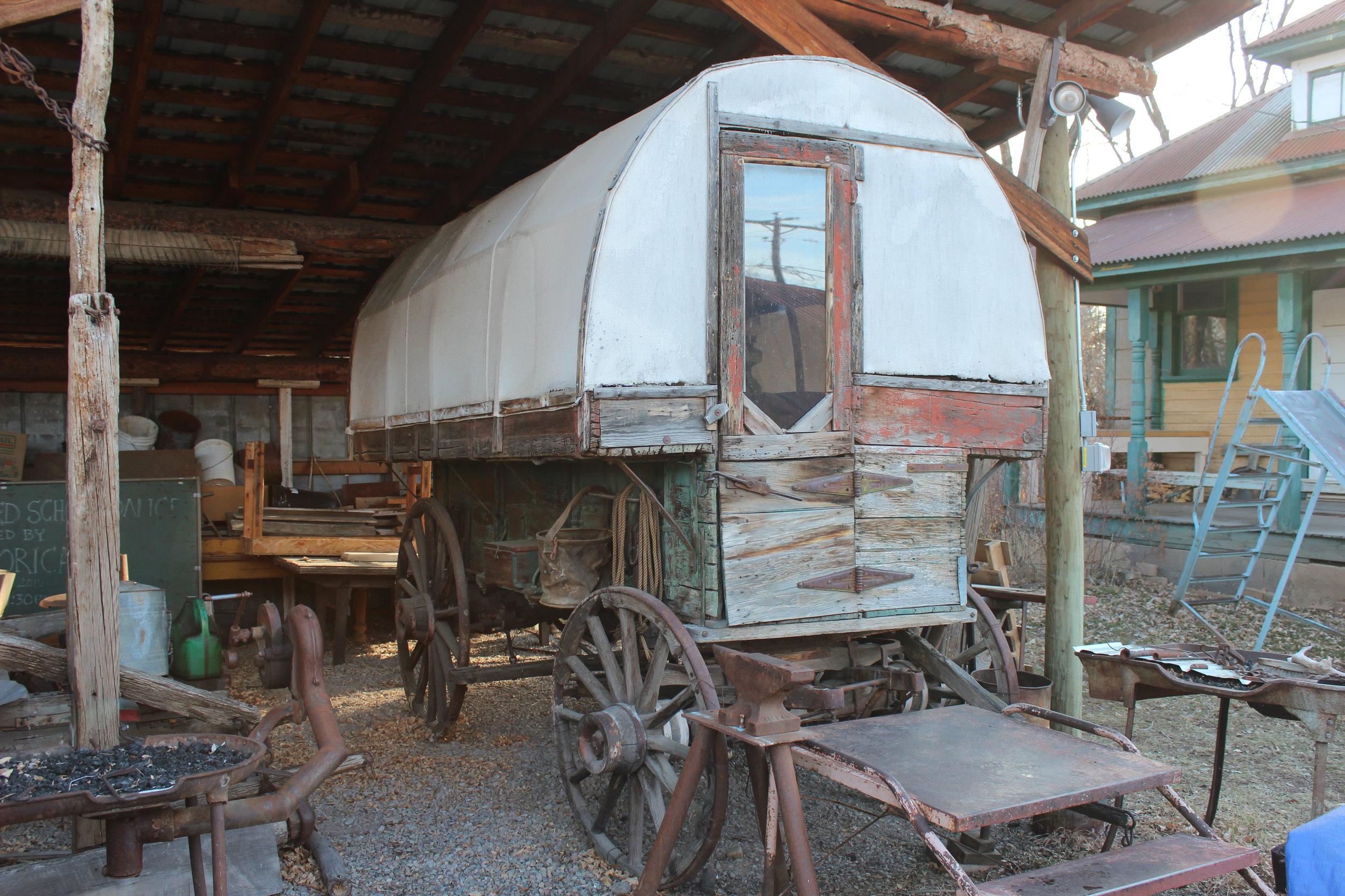 Sheepherder's wagon.