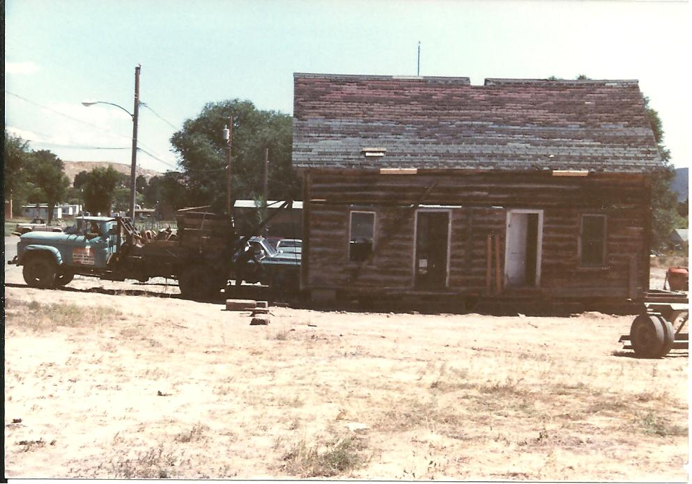 Sallee House in 1980s - In this picture, the Sallee House , which was one of the first buildings moved to SHP, is delivered. A lot of work was done to the building to restore it to the point it is today.