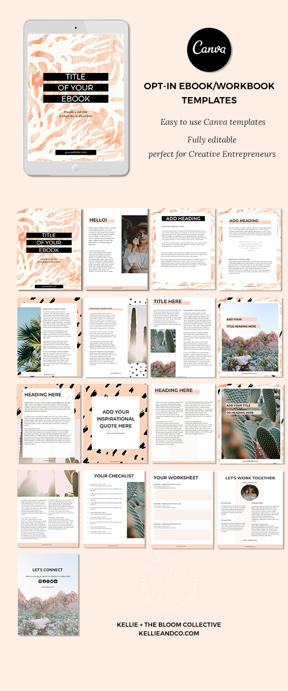 kellie and the bloom collective canva templates