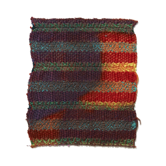 Mixed Yarns with Resist Overdye 7 x 8.25 in 2006