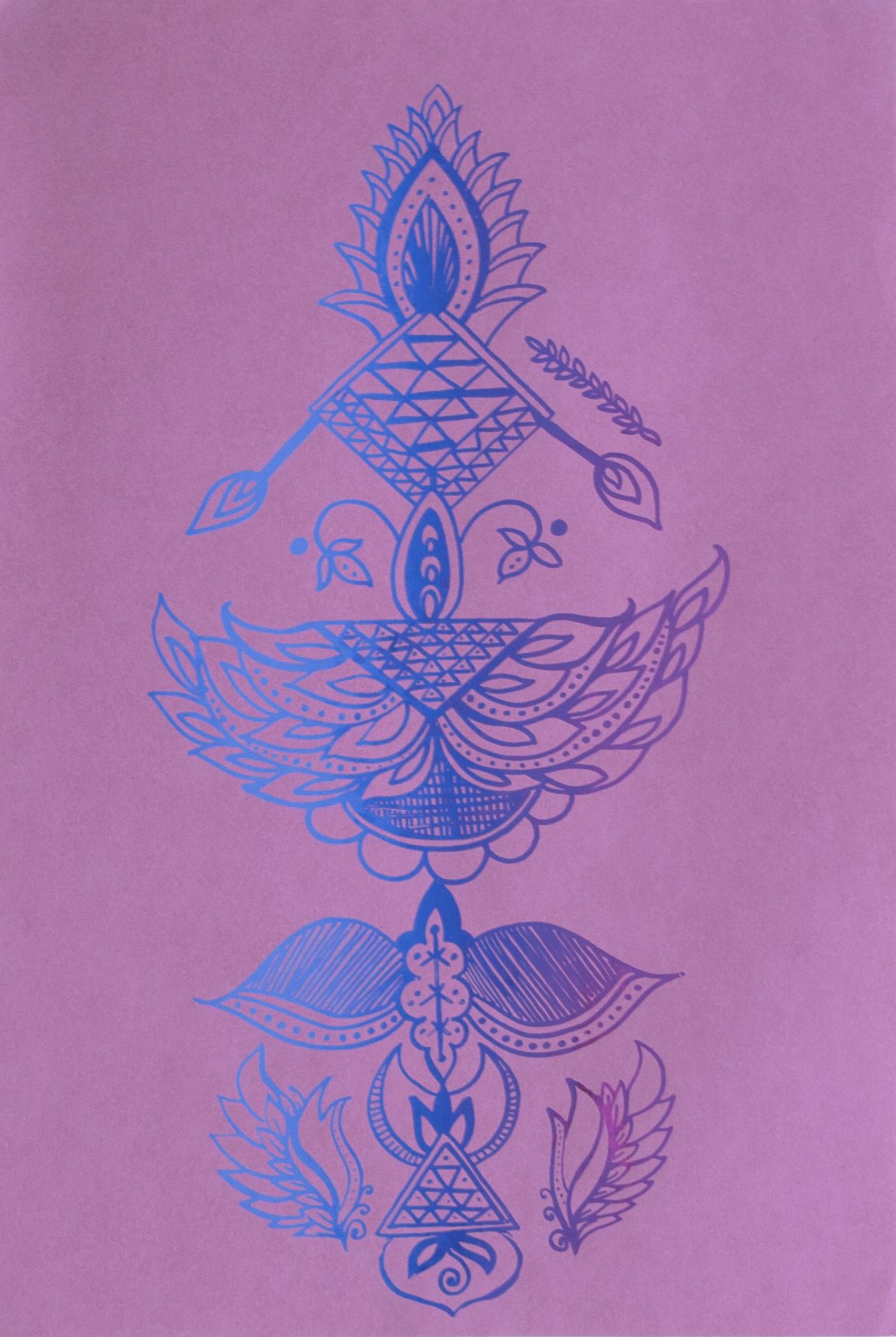 Lovers Batik on Pink  Screenprint on paper 18 x 12 in 2017
