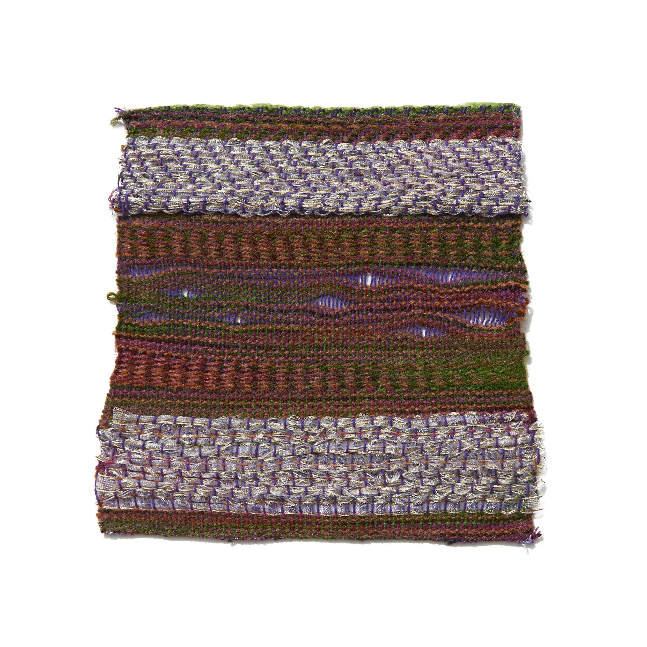 Wool, Cotton, and Metallic Ribbon 7 x 7 in 2006