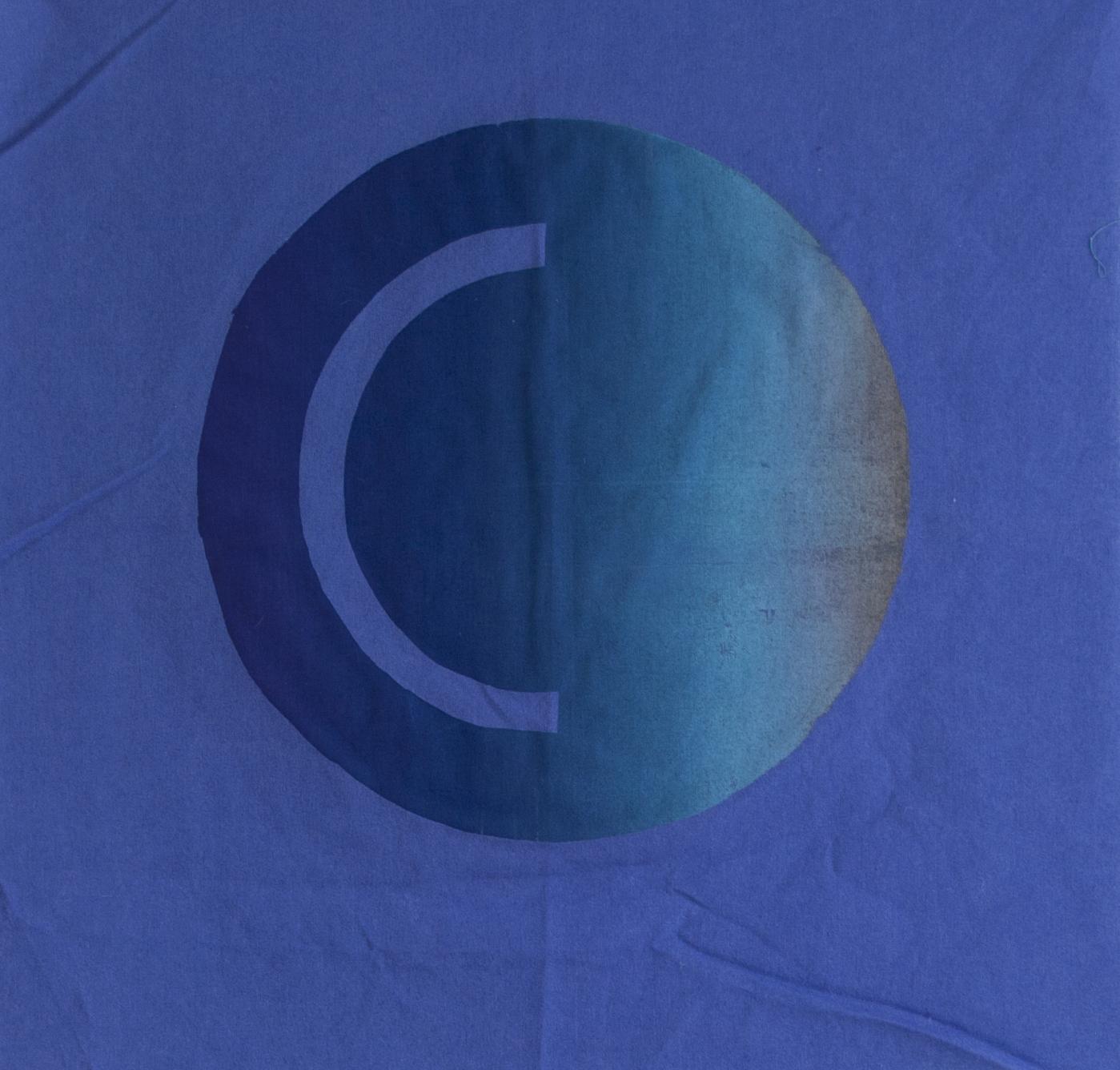 Luna Blue  Screenprint on fabric 17 x 17 in 2017