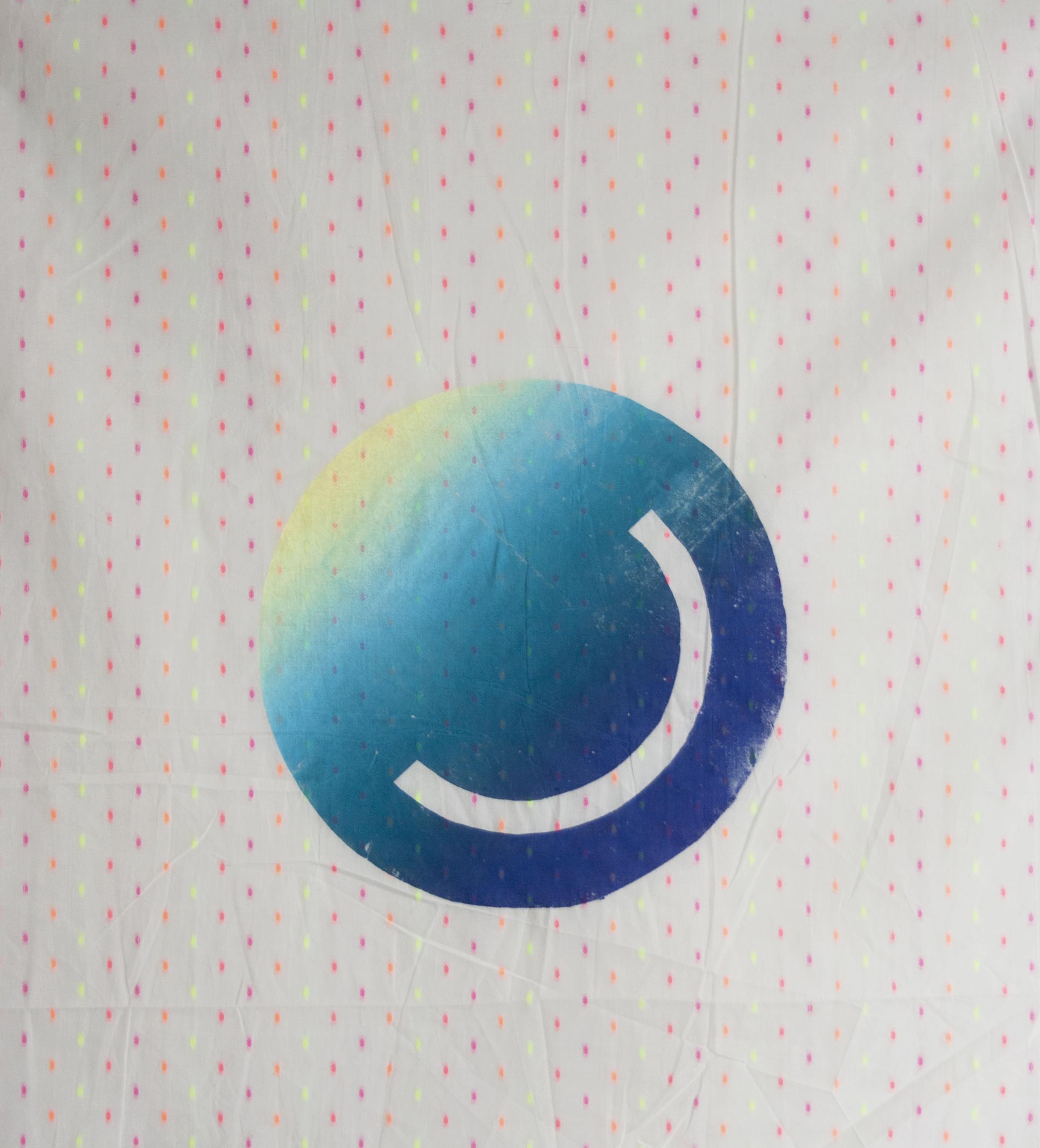 Oculus  Screenprint on fabric 31 x 24 in 2017