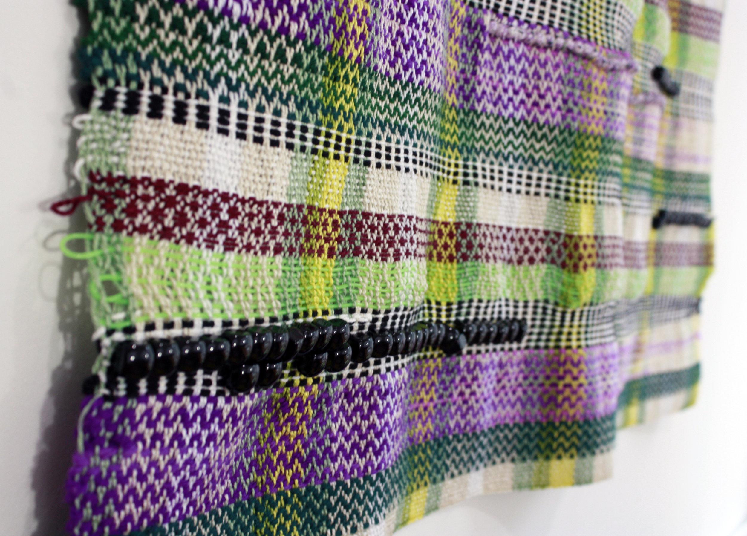 Handwoven tapestry detail shot