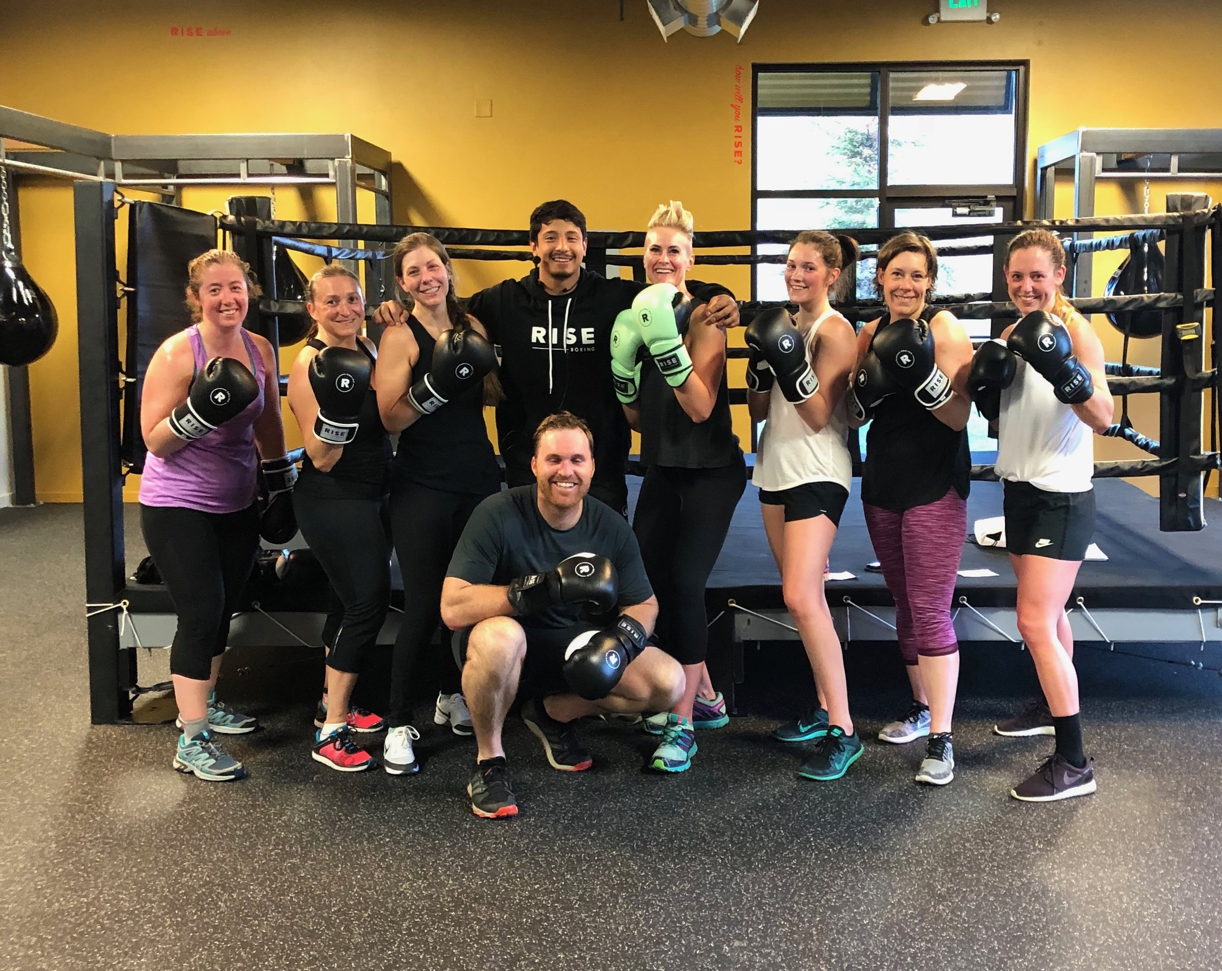 Private Group Classes - From wedding parties to corporate team-building events, to even private family classes, RISE boxing is happy to offer Private Group Classes.  Whatever your event, we can bring the energy.  Inquire with our Front Desk or email us at info@riseboxing.com for all our Private Group packages.