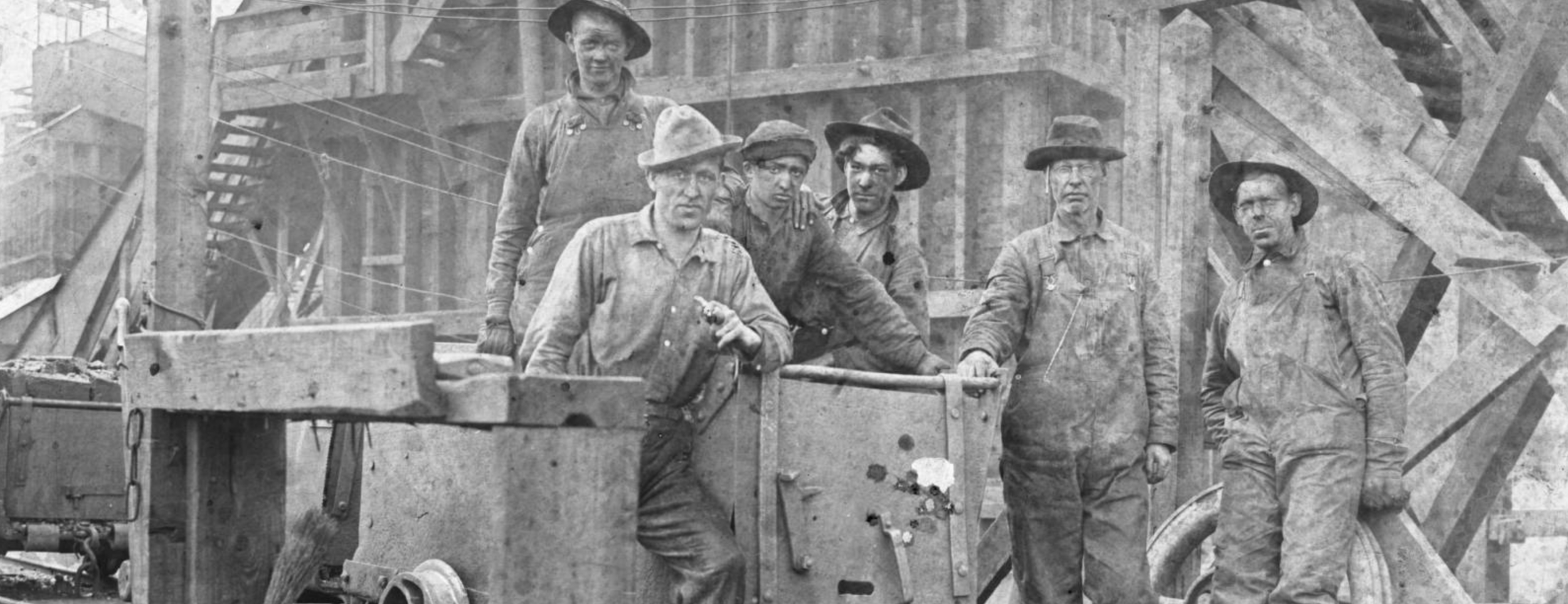 Coal miners at the Colorado Fuel and Iron Company mine. Image property of the Denver Public Library.