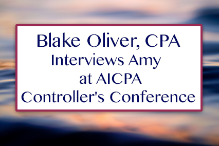 Interview at AICPA Controller's Conference