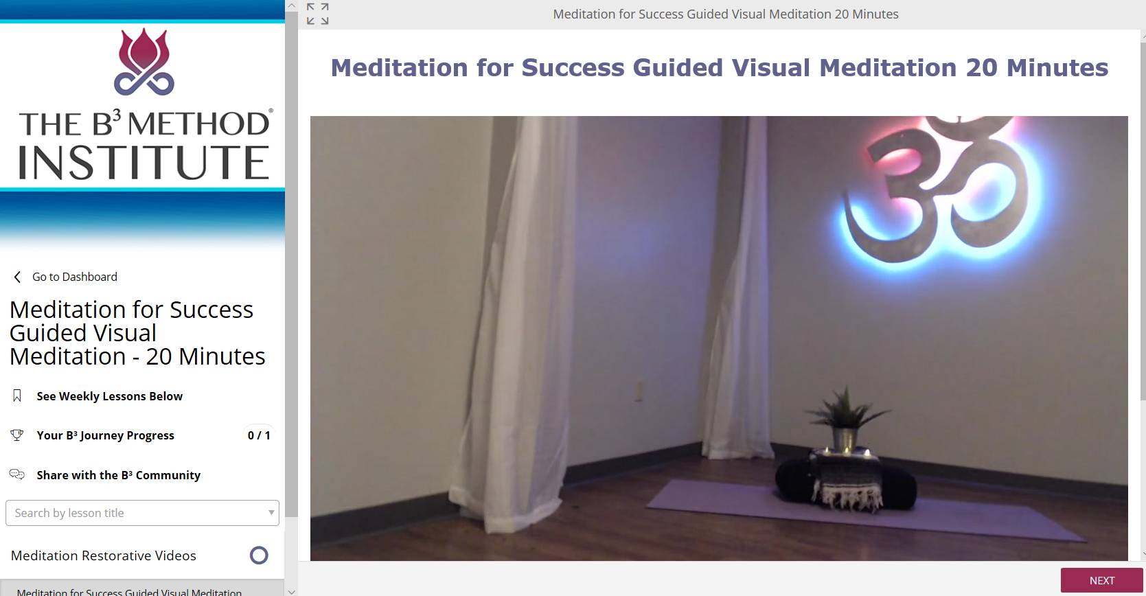 MeditationVideos - 10-45 Minute Resorative Meditations Videos