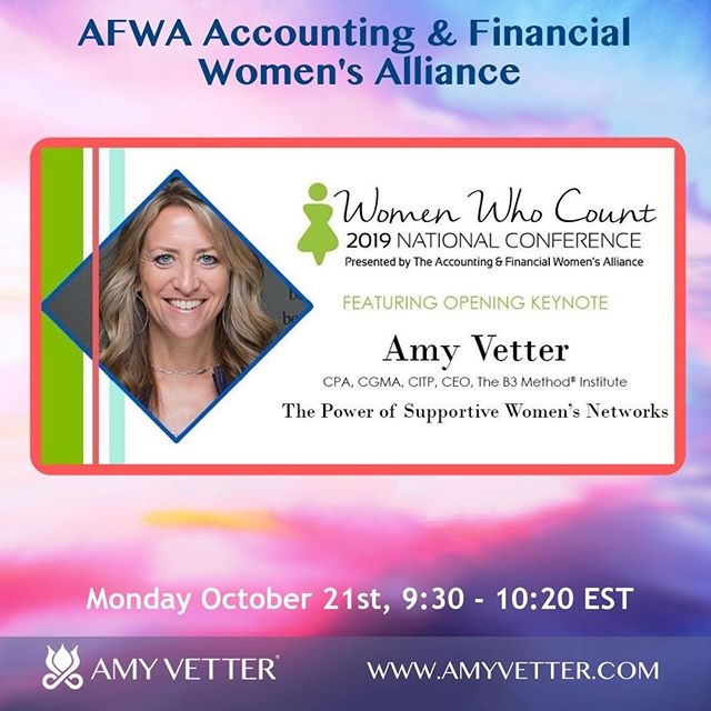Next week I am excited to present The Power of Supportive Women's Networks to @afwanational Women Who Count Event on October 21st, 9:30 - 10:20 EST at Orlando, Florida⠀ Register Here:  https://buff.ly/2GSxPP7⠀ Accounting & Financial Women's Alliance ⠀ #businessbalancebliss #cherishedadvisor