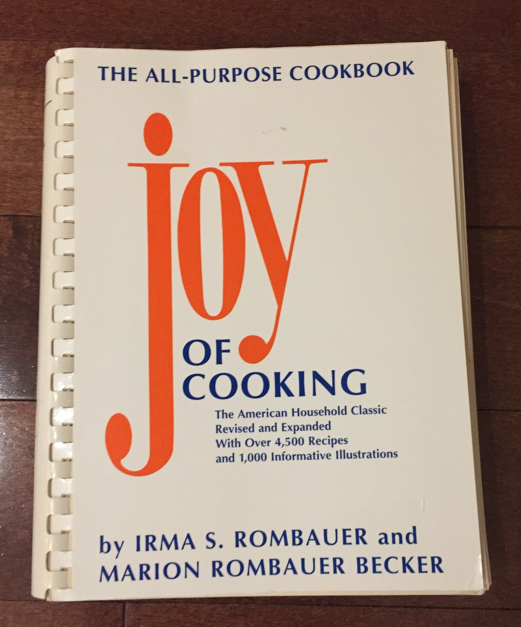 The Joy of Cooking. This book has been more of a educational book then anything. I have made a few recipes, but I just love the history of this book. It was made almost 100 years ago by a women who wanted to make a stock pile of recipes, and who was also coping with the loss of her husband. I know this may seem like a generic pick but I find this book exciting and incredibly interesting. Definetly a staple for the home cook.