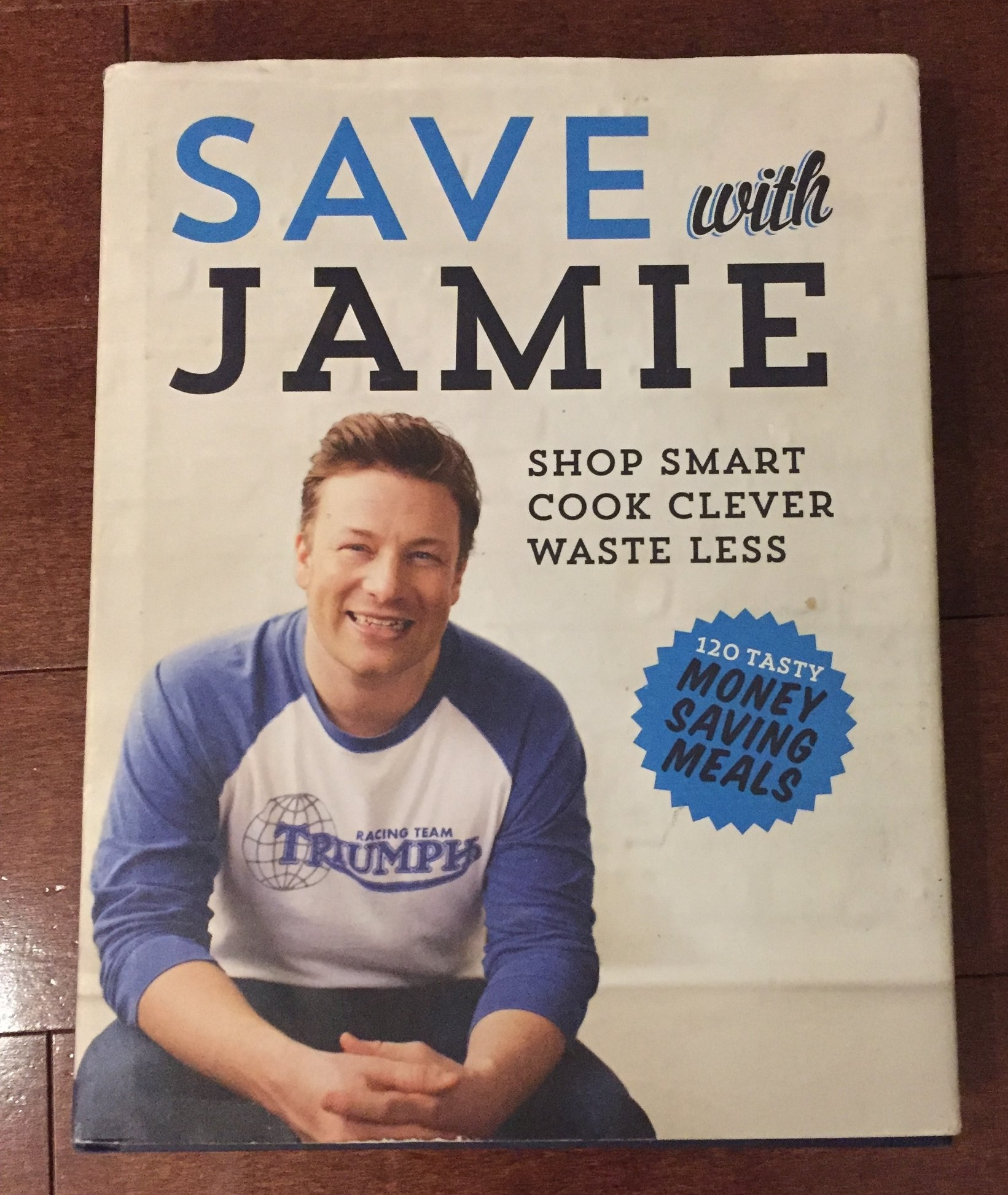 Save with Jamie. This book is awesome. It has straight forward, flavorful recipes that you will love. The best part about this book is it's all about making something special from leftovers. I have about 12 Jamie Oliver books and this is my favourite. I may also be slightly obessed with Jamie Oliver.