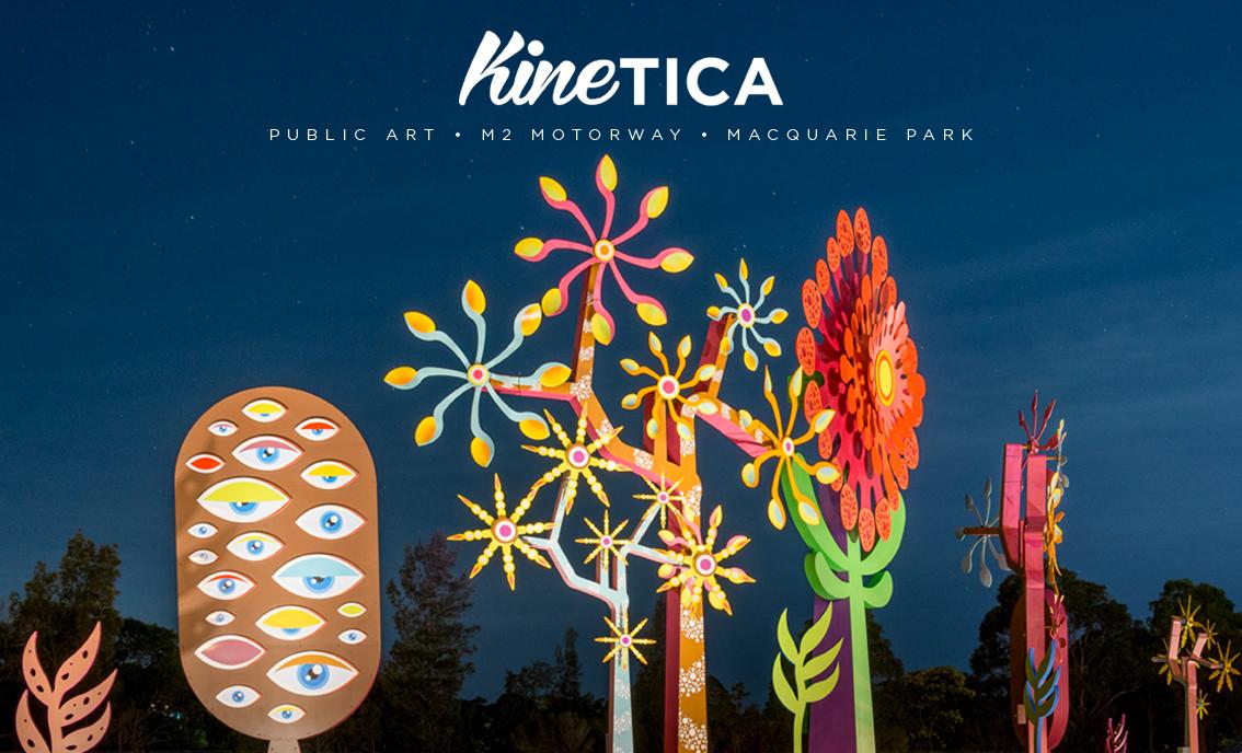 Kinetica. 2016/17.   M2 Motorway. North Ryde/Macquarie Park. NSW. 2113. Australia  http://www.transurban.com/community/macquariepark.htm