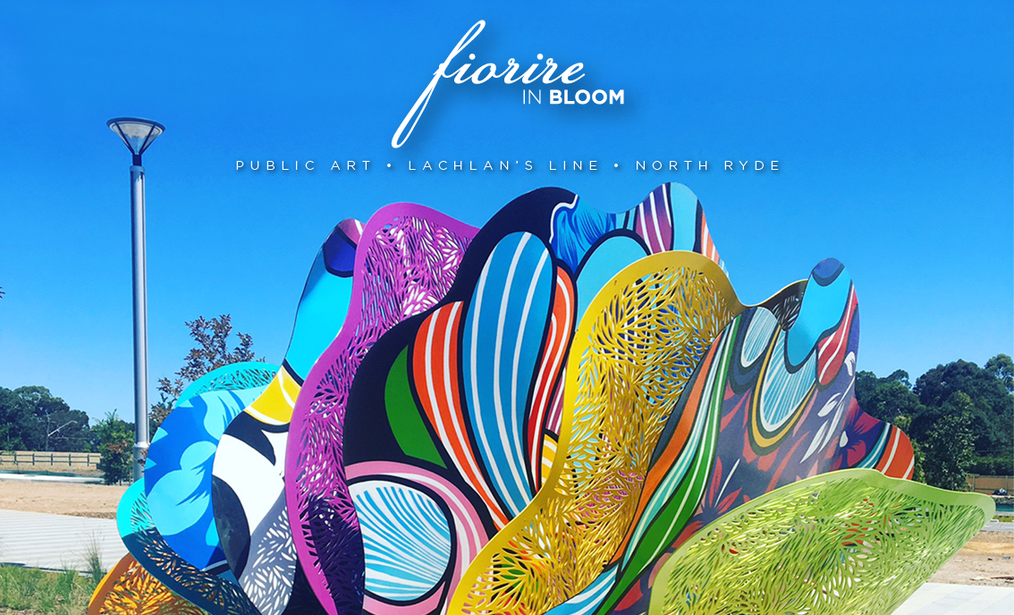 Fiorire   (In Bloom) . 2016/17.  Lachlan's Line. North Ryde/Macquarie Park. NSW. 2113. Australia