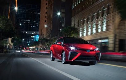 The new Mirai. Fun fact: The Mirai was the first hydrogen fuel cell vehicle to pace a NASCAR race at the Toyota Owners 400 at Richmond, US. (Photo: Toyota)